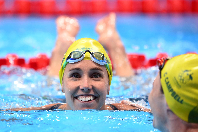 Tokyo 2020 Olympics - Swimming - Women's 50m Freestyle - Final - Tokyo Aquatics Centre - Tokyo, Japan - August 1, 2021. Emma McKeon of Australia reacts after race REUTERS/Annegret Hilse