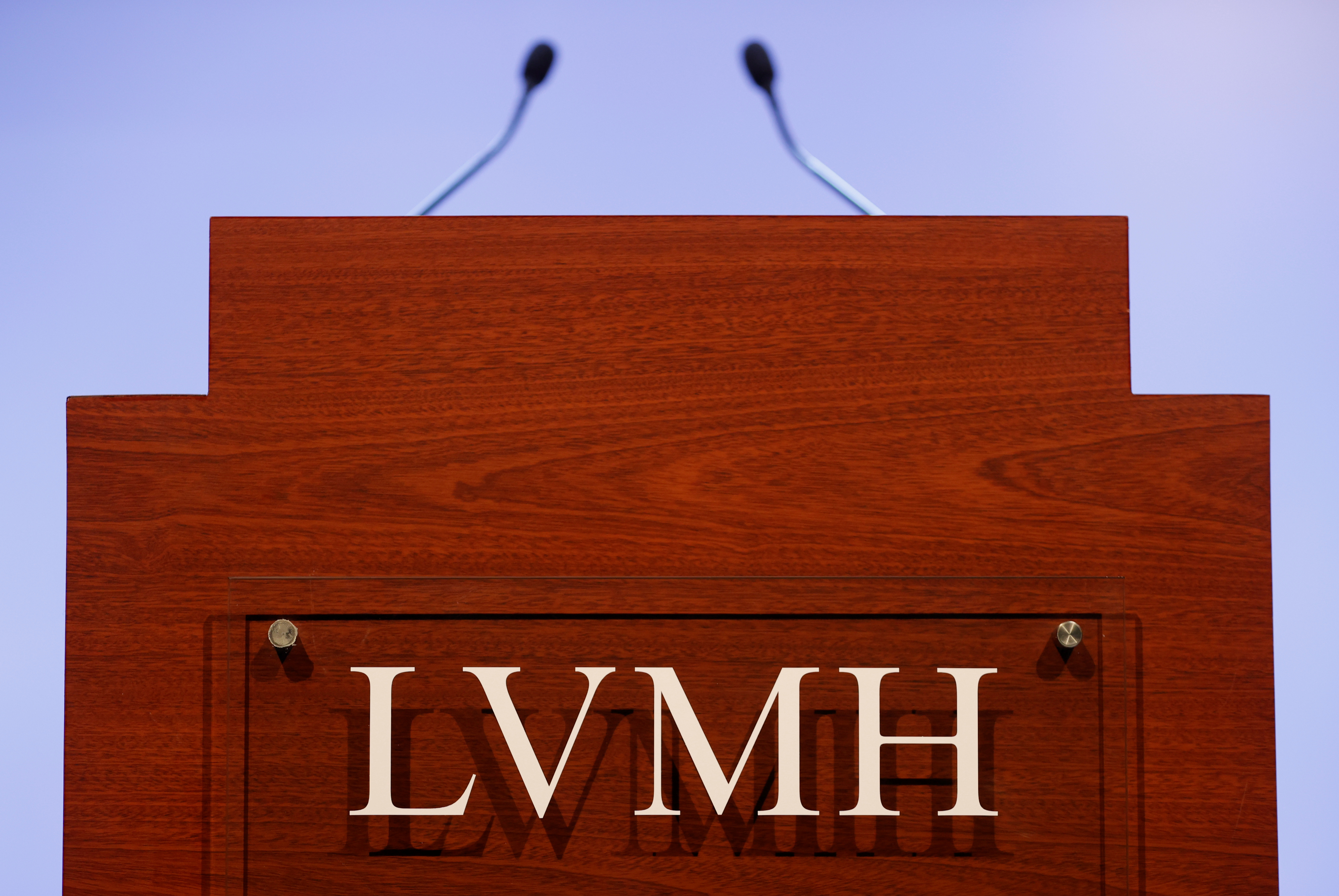 A LVMH luxury group logo is seen prior to the announcement of their 2019 results in Paris, France, January 28, 2020. REUTERS/Christian Hartmann/Files