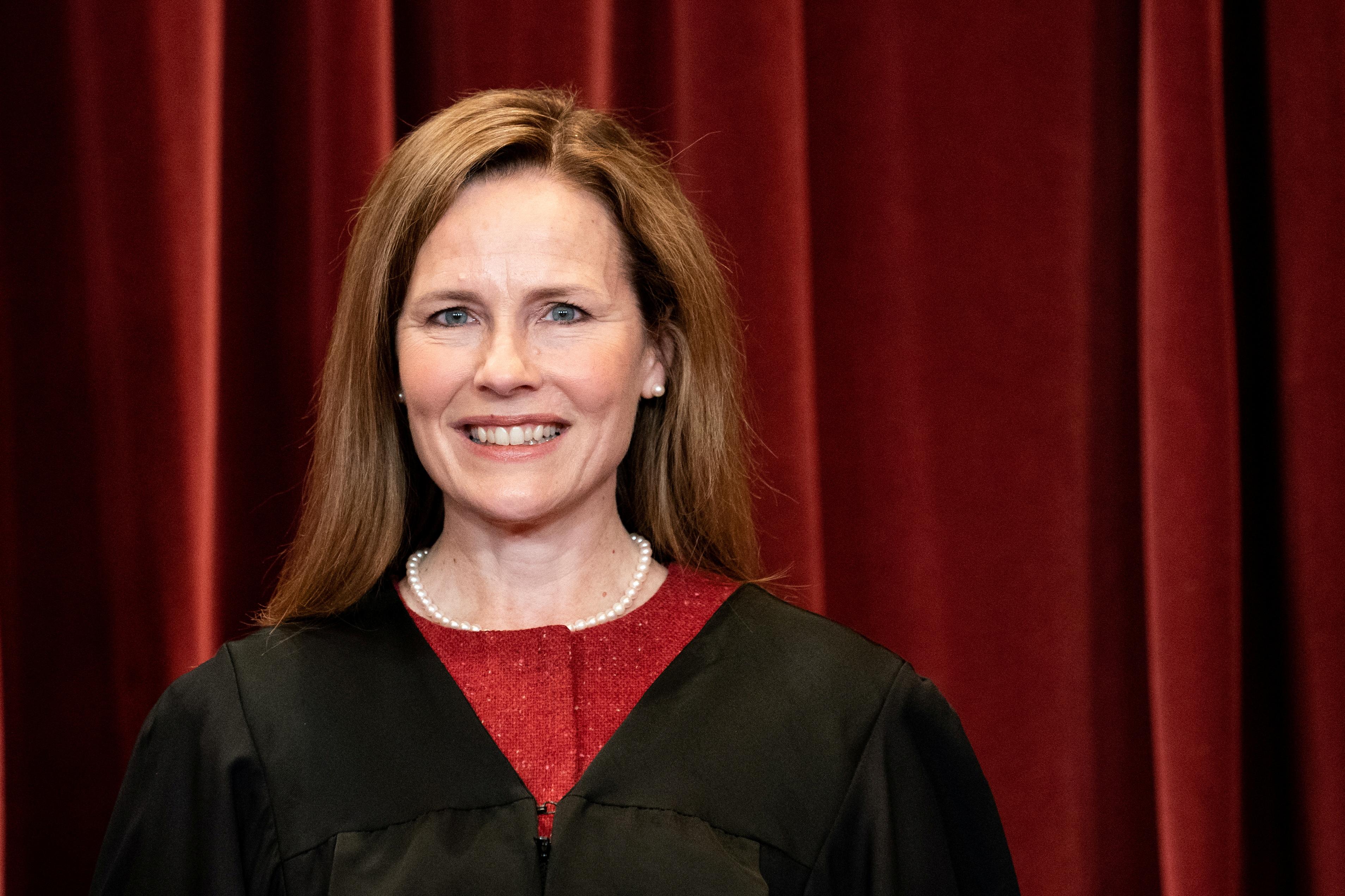 File photo: U.S. Supreme Court Justice Amy Coney Barrett . Erin Schaff/Pool via REUTERS