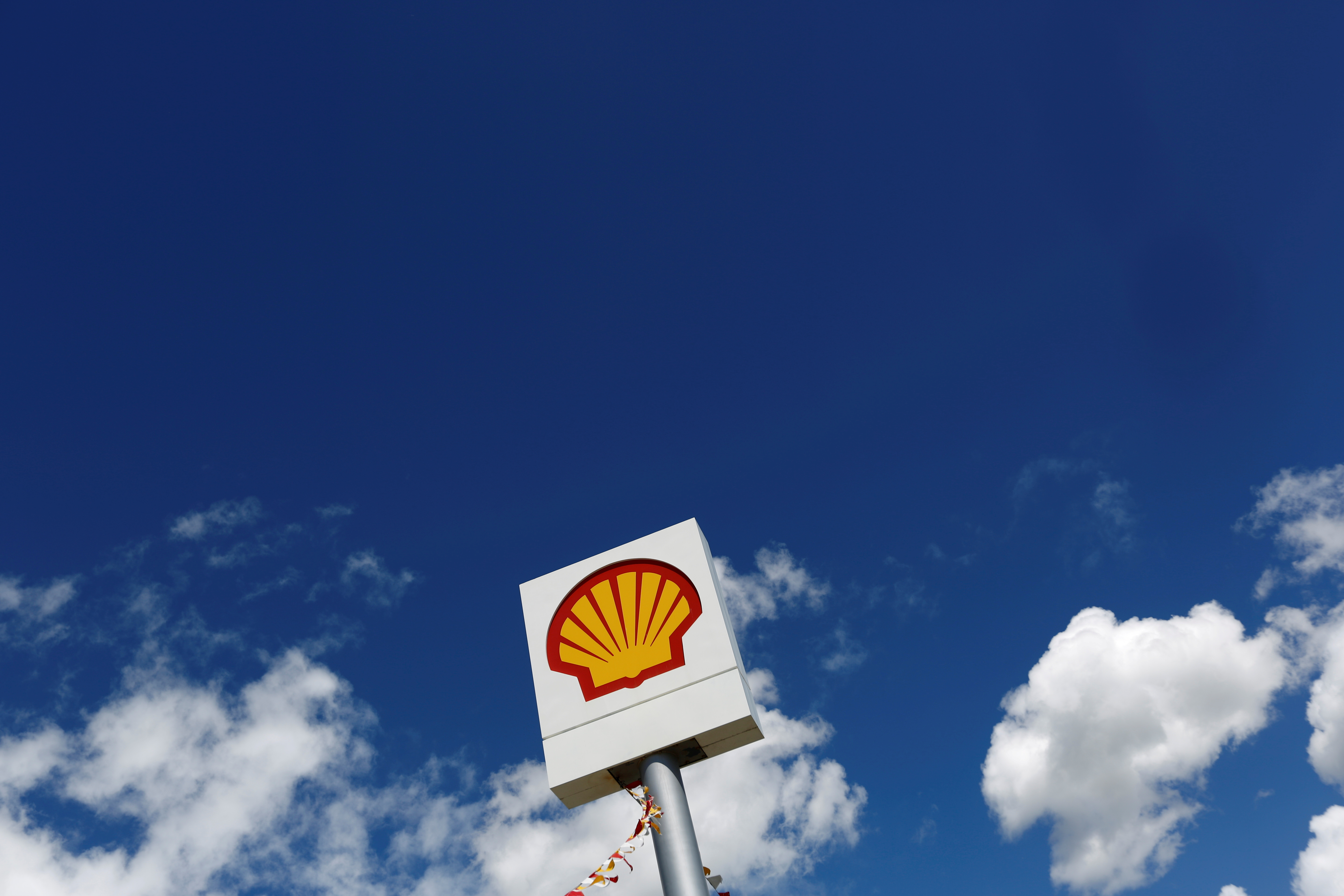 The Shell logo is pictured at a gas station in the western Canakkale province, Turkey, April 25, 2016. REUTERS/Murad Sezer
