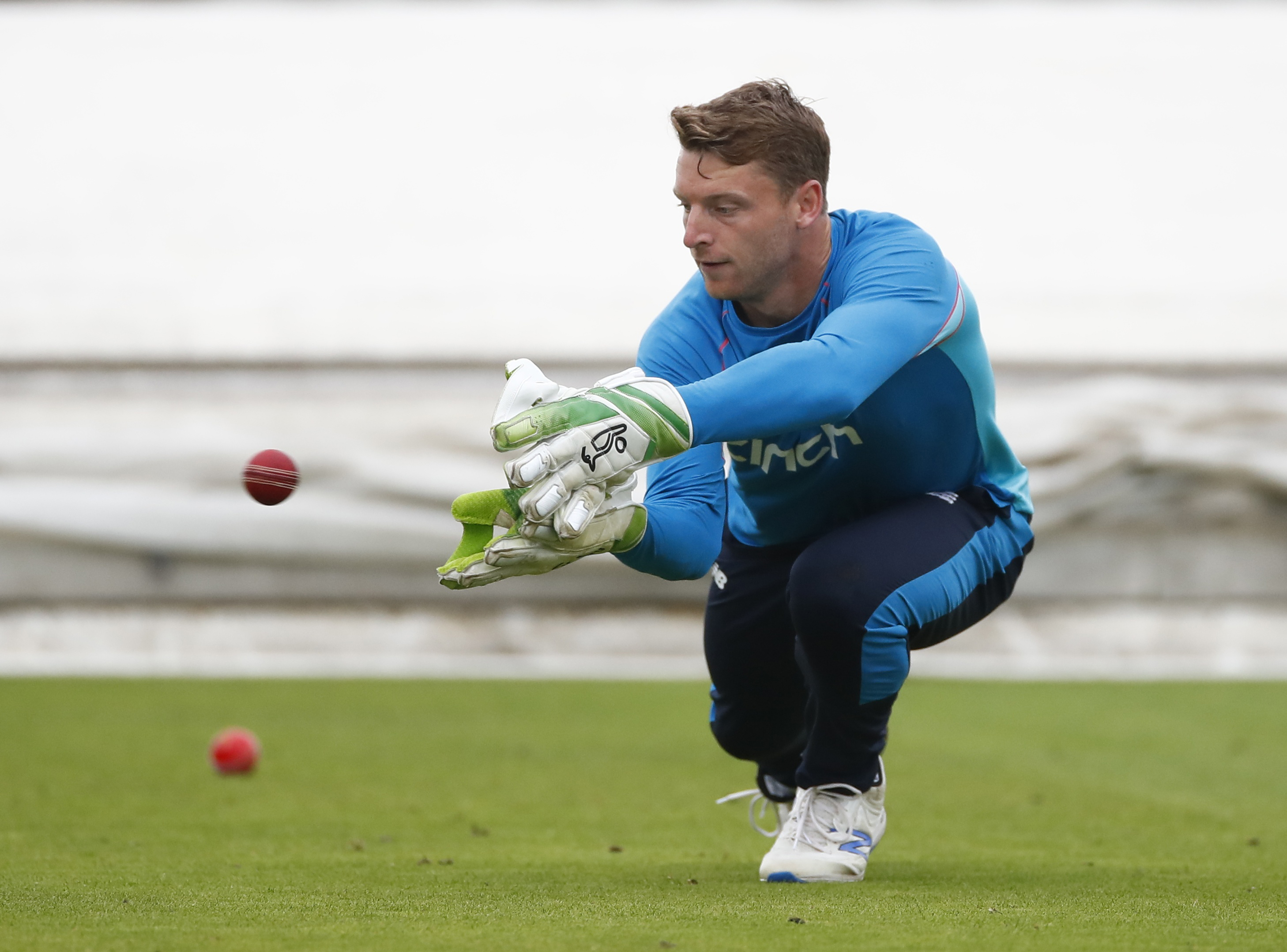 Cricket - England Nets - Emirates Old Trafford, Manchester, Britain- September 9, 2021 England's Jos Buttler during nets Action Images via Reuters/Jason Cairnduff