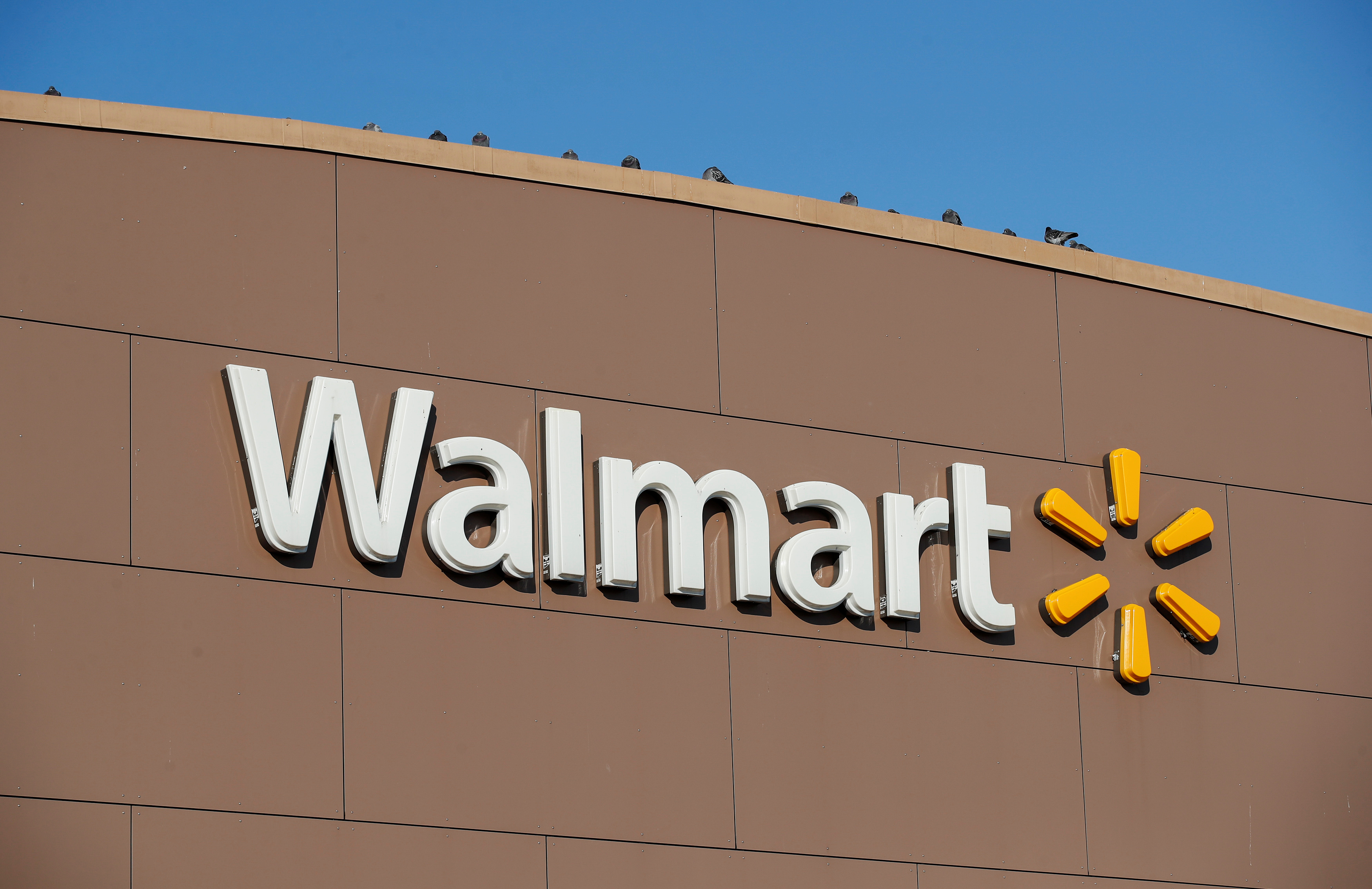 Walmart's logo is seen outside one of the stores in Chicago, Illinois. REUTERS/Kamil Krzaczynski
