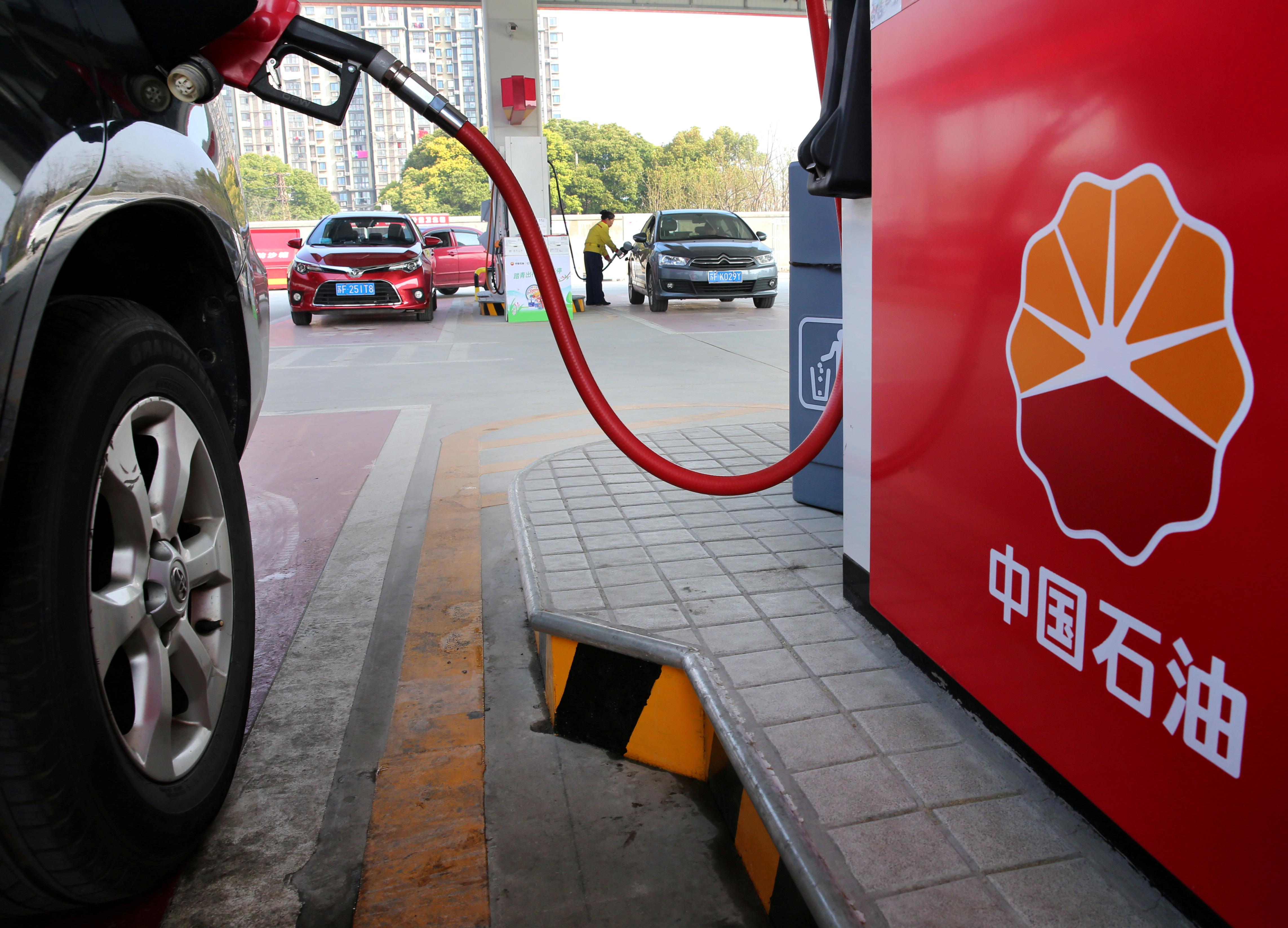 PetroChina's logo is seen at its petrol station in Nantong, Jiangsu province, China March 28, 2018. REUTERS/Stringer