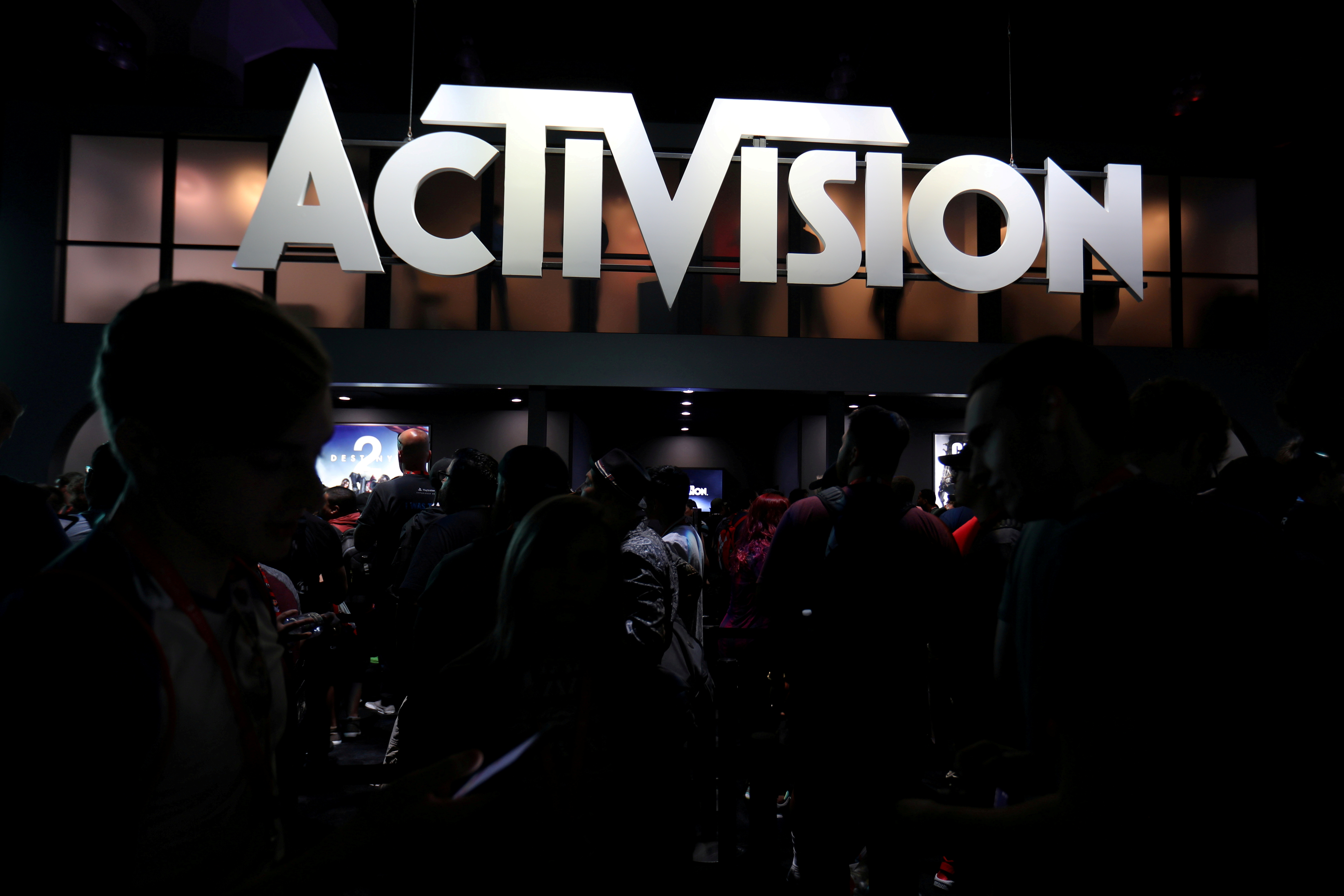The Activision booth is shown at the E3 2017 Electronic Entertainment Expo in Los Angeles, California, U.S. June 13, 2017.  REUTERS/ Mike Blake/File Photo