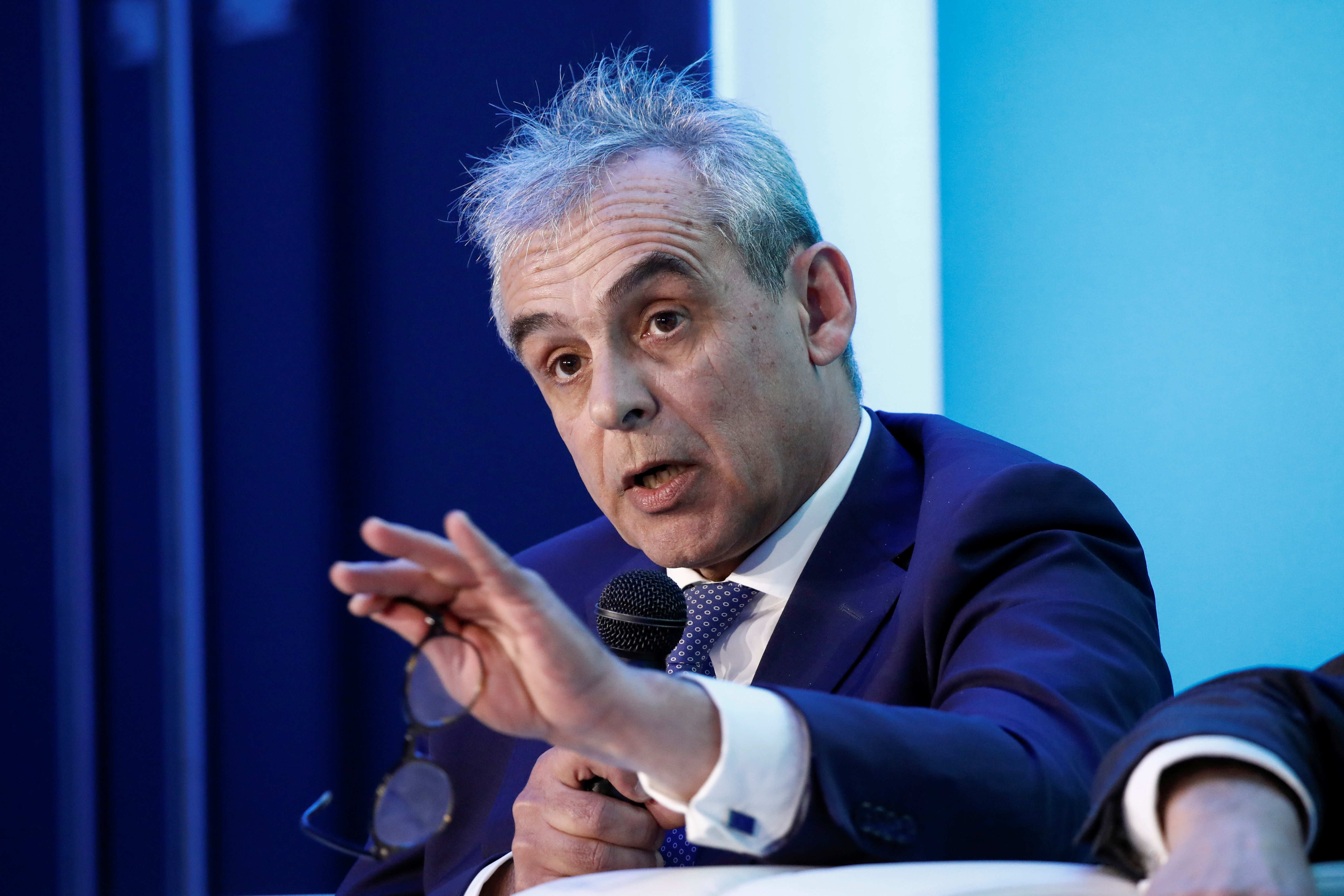 Pascal Blanque, Chief Investment Officer of Amundi, attends the Euronext stock exchange's annual conference in Paris, France, January 14, 2020. REUTERS/Benoit Tessier/Files