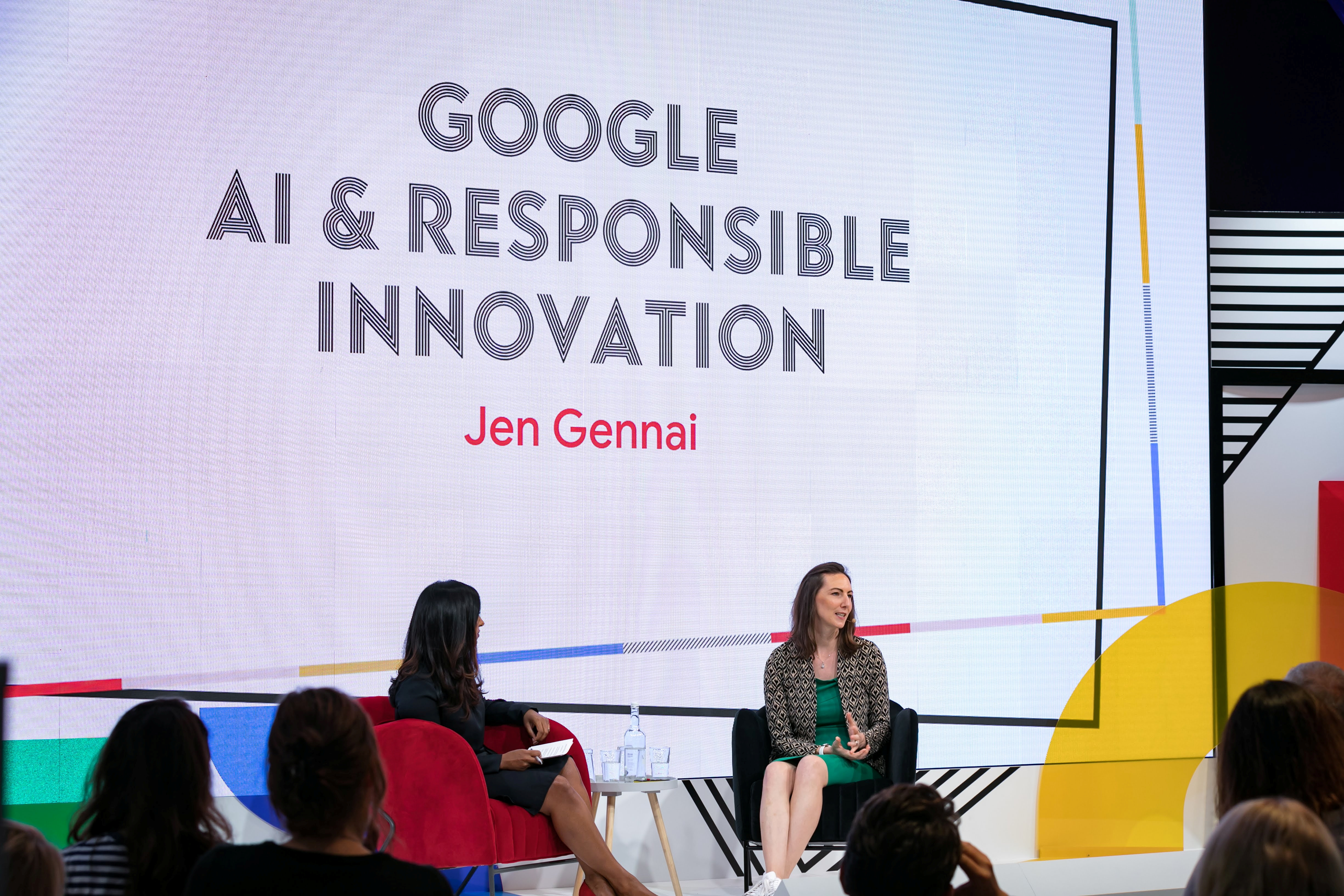 Google responsible innovation team lead and founder Jen Gennai speaks at the Google Executive Summit in London, Britain, in September 2019.  Google /Handout via REUTERS   THIS IMAGE HAS BEEN SUPPLIED BY A THIRD PARTY. NO RESALES. NO ARCHIVES