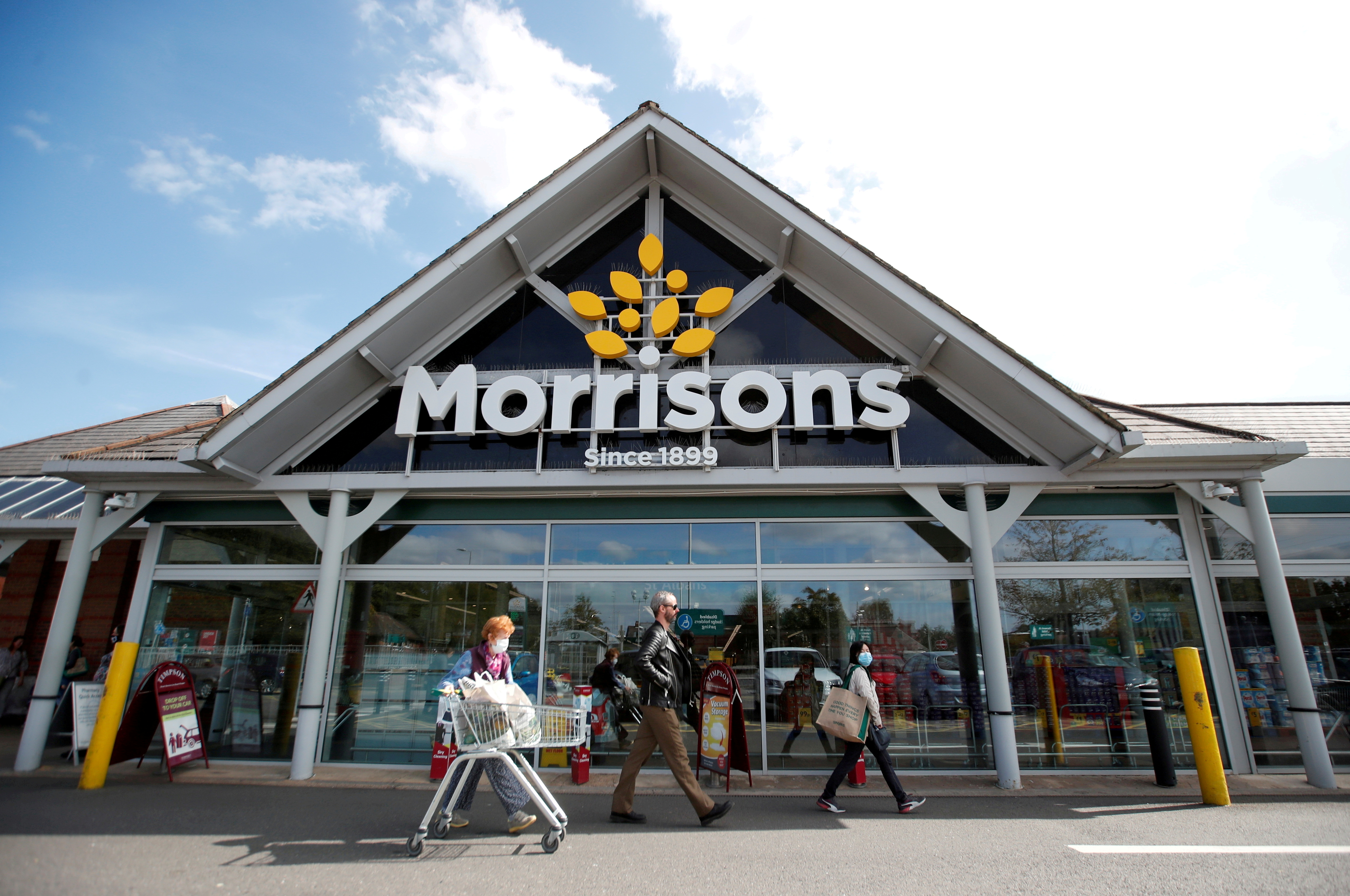 A Morrisons store is pictured in St Albans, Britain, September 10, 2020.  REUTERS/Peter Cziborra/File Photo