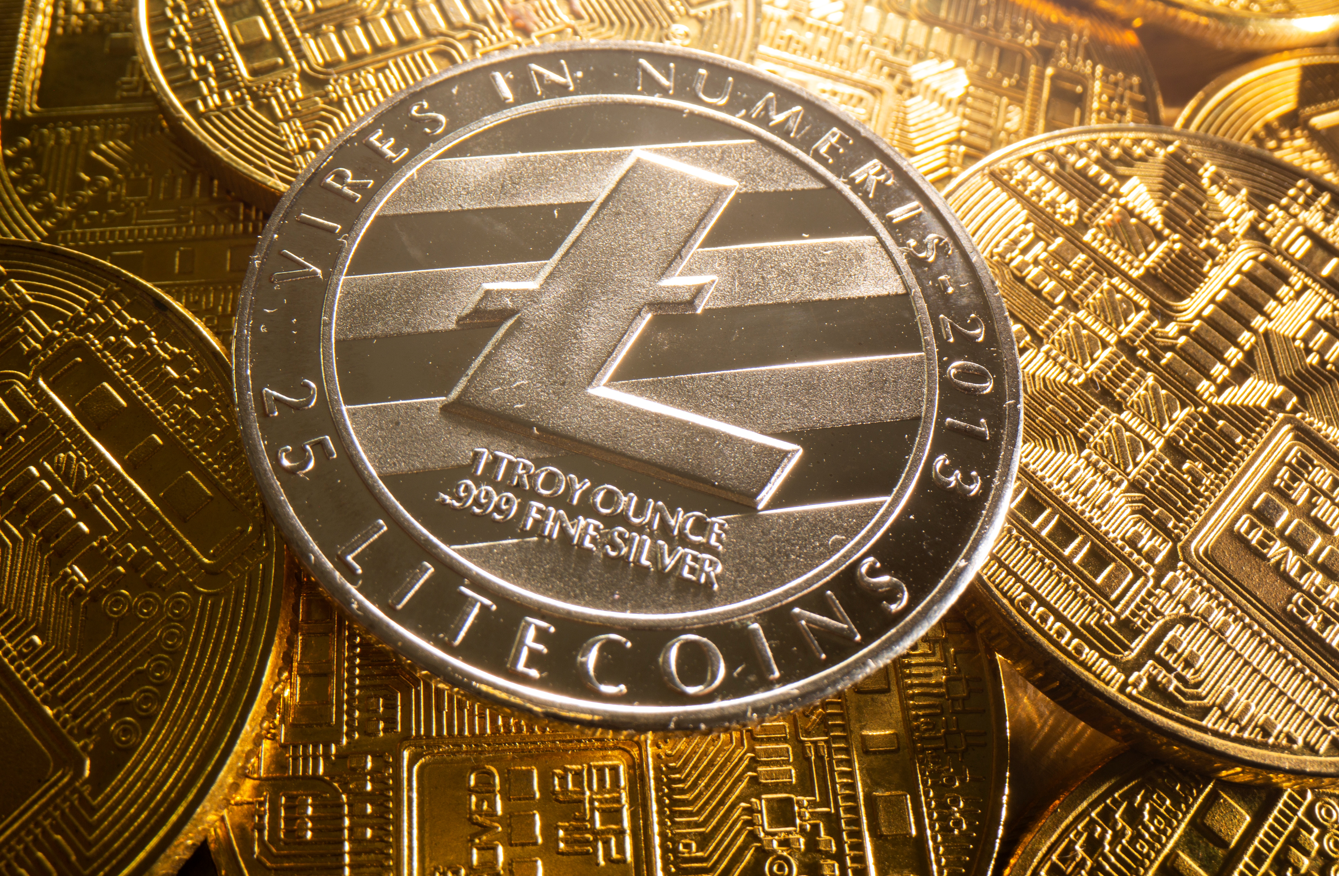 A representation of cryptocurrency Litecoin is seen in this illustration taken August 6, 2021. REUTERS/Dado Ruvic/Illustration - RC2MZO9J0DHV
