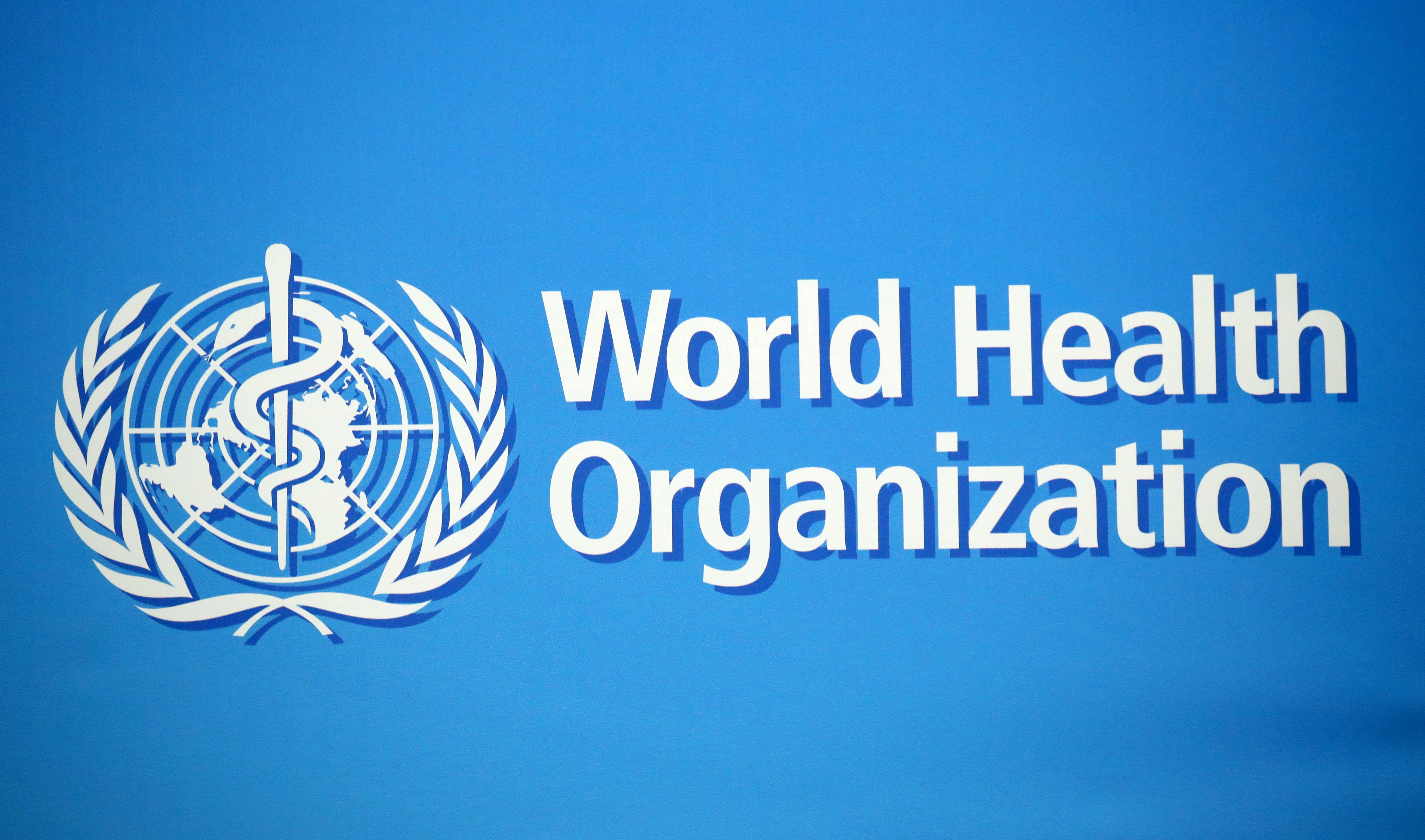 A logo is pictured at the World Health Organization (WHO) building in Geneva, Switzerland.  REUTERS/Denis Balibouse