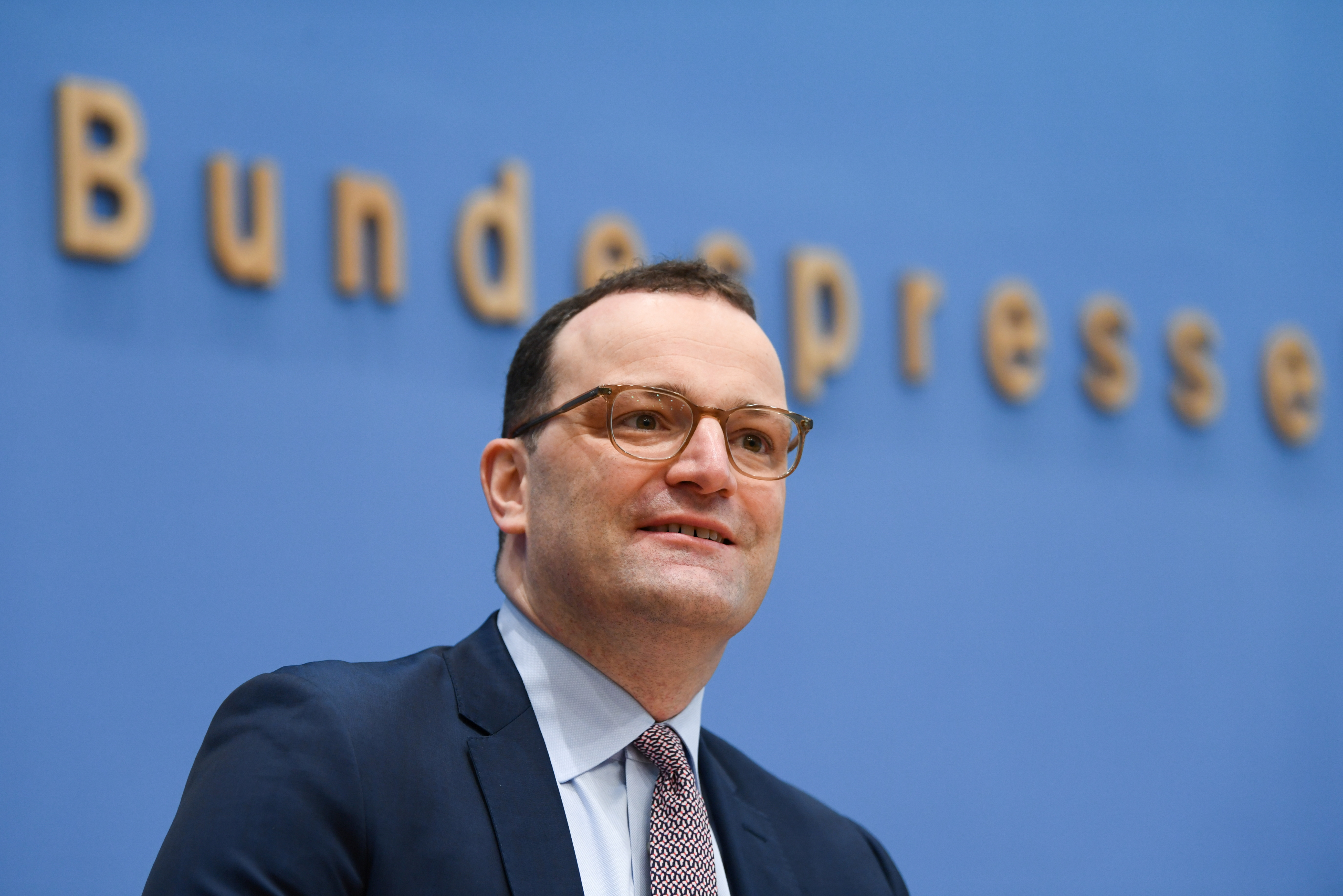 German Health Minister Jens Spahn attends a news conference on the current coronavirus disease (COVID-19) situation in Berlin, Germany May 7, 2021. REUTERS/Annegret Hilse/Pool