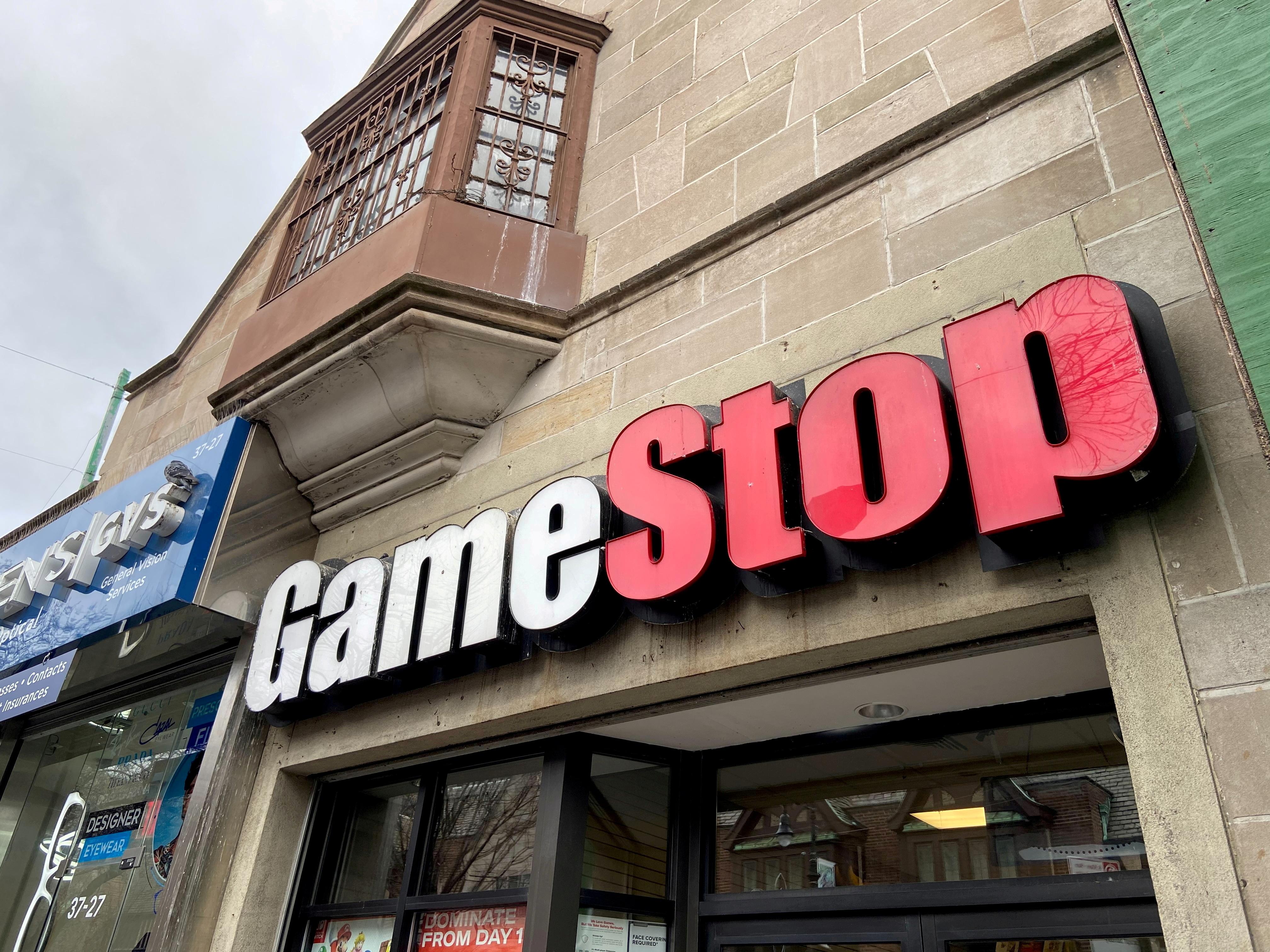 A GameStop store is seen in the Jackson Heights neighborhood of New York City, New York, U.S. January 27, 2021. REUTERS/Nick Zieminski//File Photo