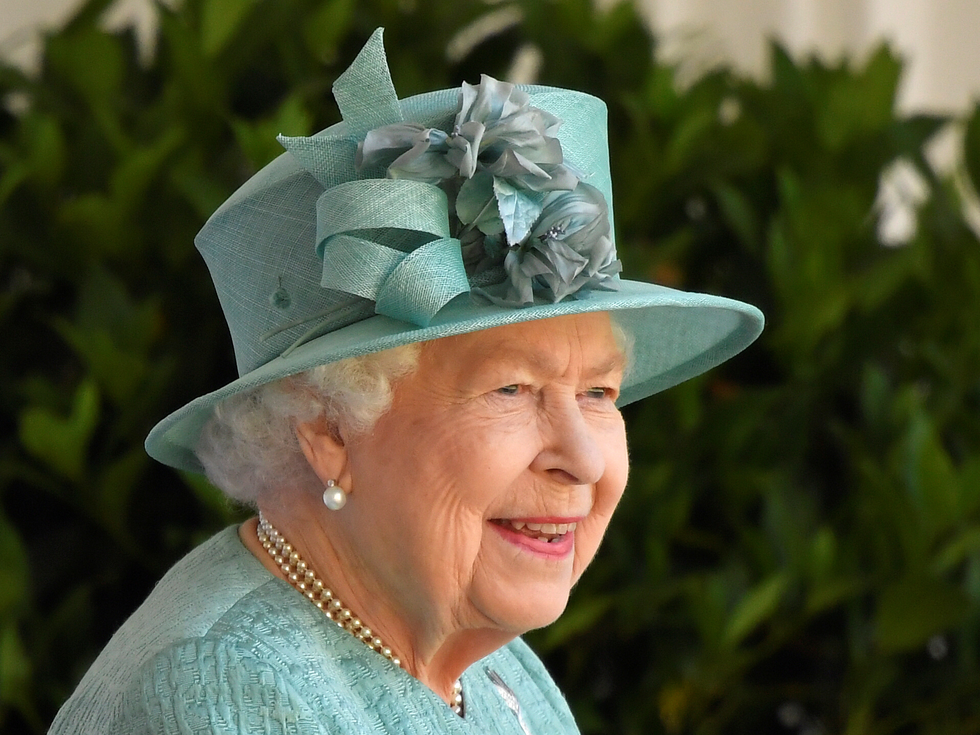 Britain's Queen Elizabeth attends a ceremony to mark her official birthday at Windsor Castle in Windsor, Britain, June 13, 2020. REUTERS/Toby Melville/Pool