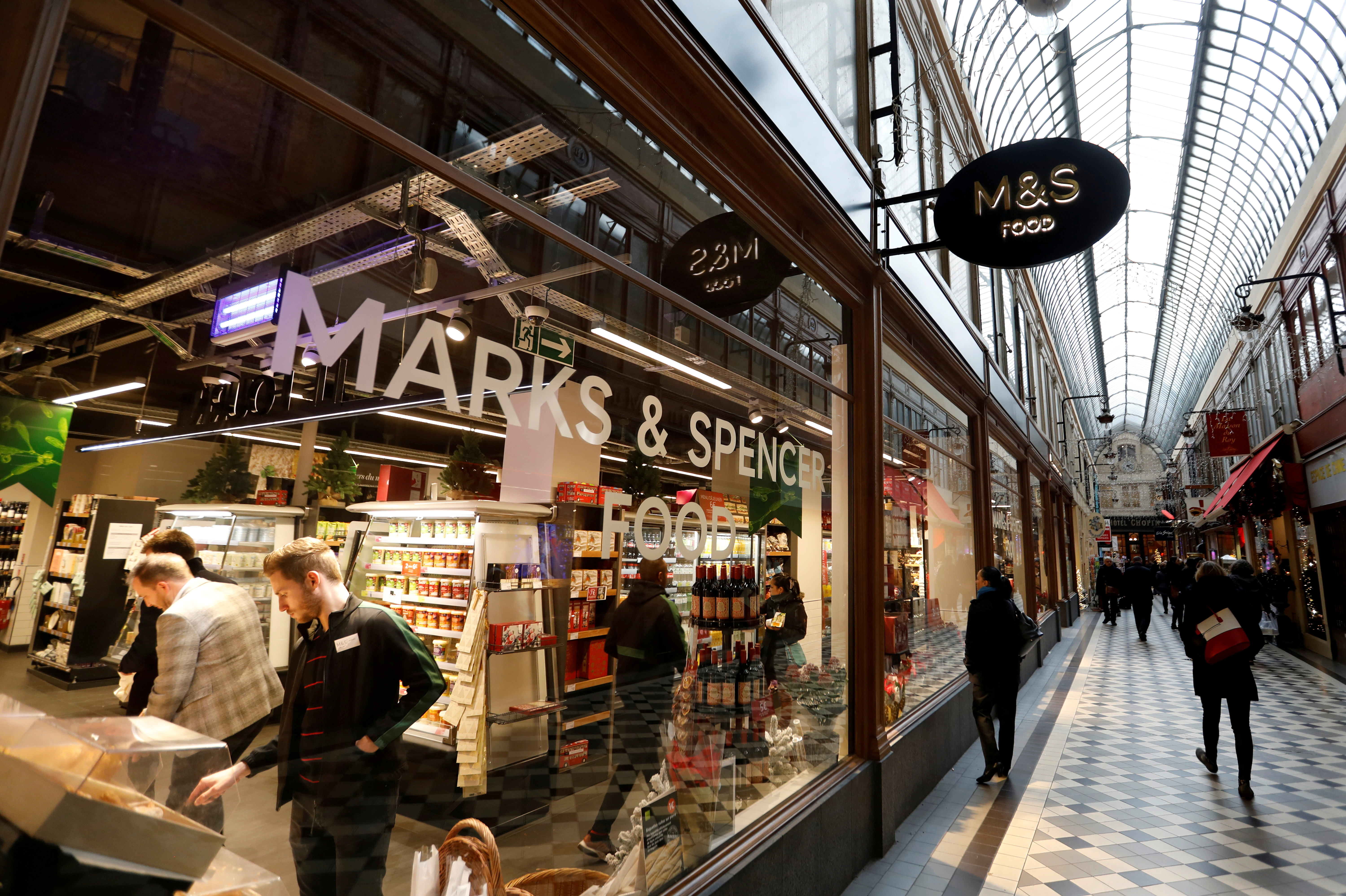 A Marks and Spencer store is seen in the covered Jouffroy passage in Paris, France, December 11, 2018. REUTERS/Charles Platiau