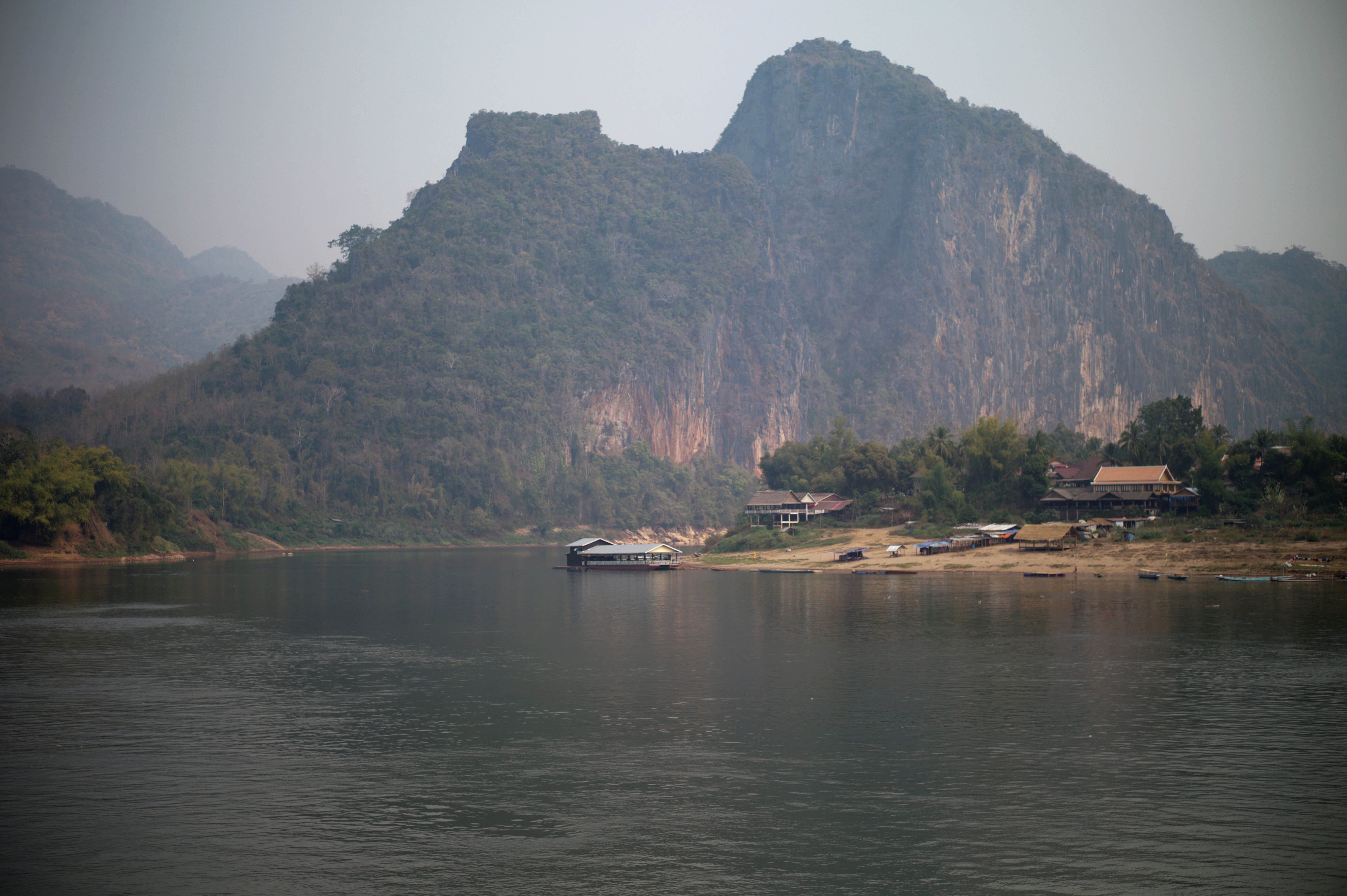 A general view of the future site of the Luang Prabang dam is seen on the Mekong River outskirt of Luang Prabang province, Laos, February 5, 2020. REUTERS/Panu Wongcha-um/File Photo