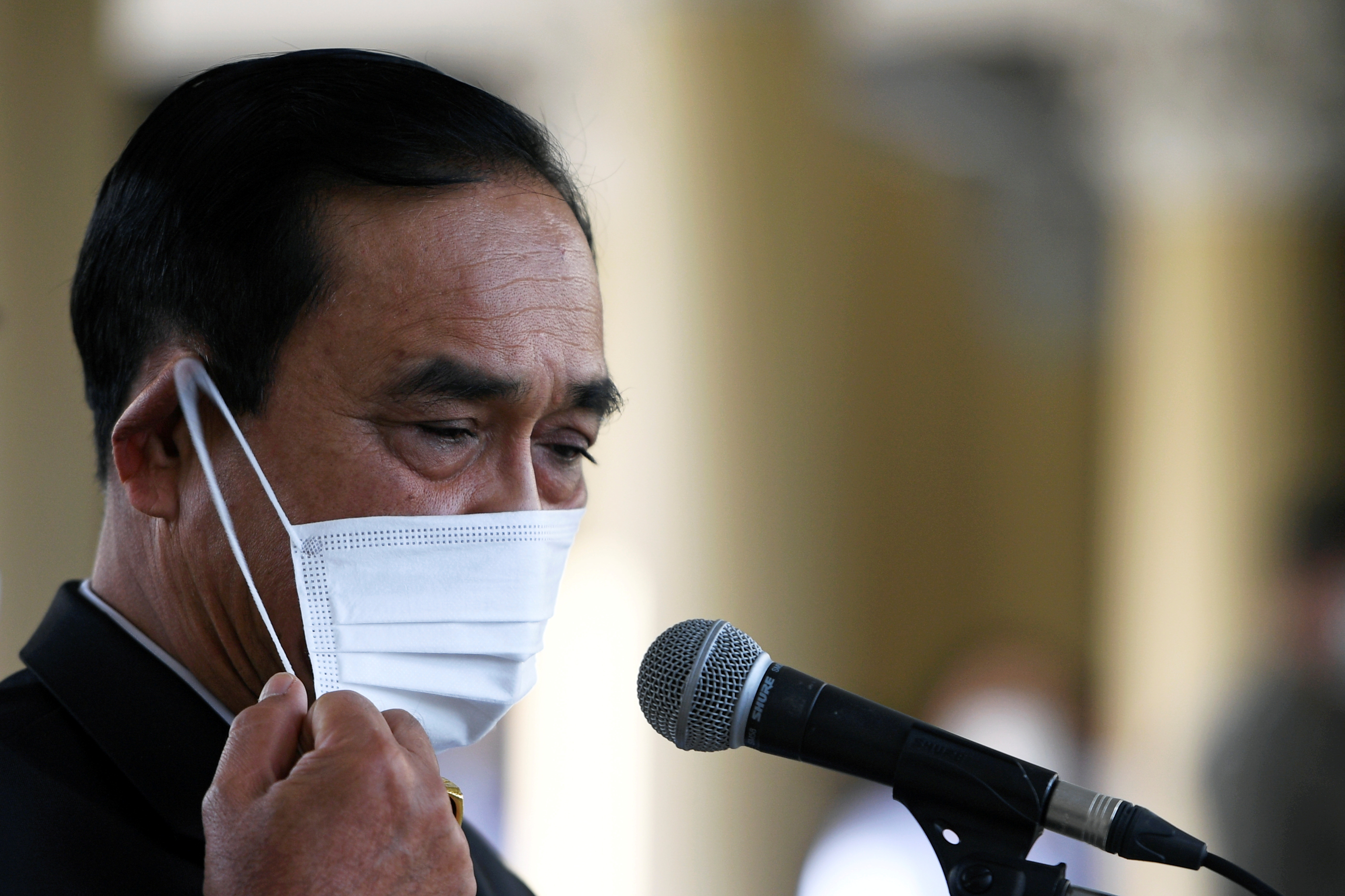 Thailand Prime Minister Prayuth Chan-ocha attends an agreement signing ceremony for purchase of AstraZeneca's potential COVID-19 vaccine at Government House, amid the spread of the coronavirus disease (COVID-19), in Bangkok, Thailand November 27, 2020. REUTERS/Chalinee Thirasupa