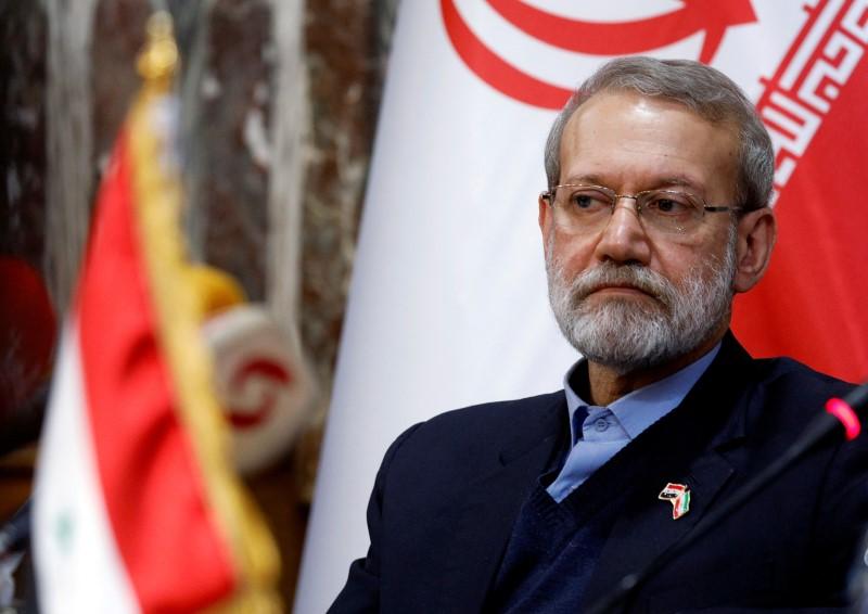 Iranian parliament speaker Ali Larijani attends a news conference in Damascus, Syria February 16, 2020. REUTERS/Omar Sanadiki