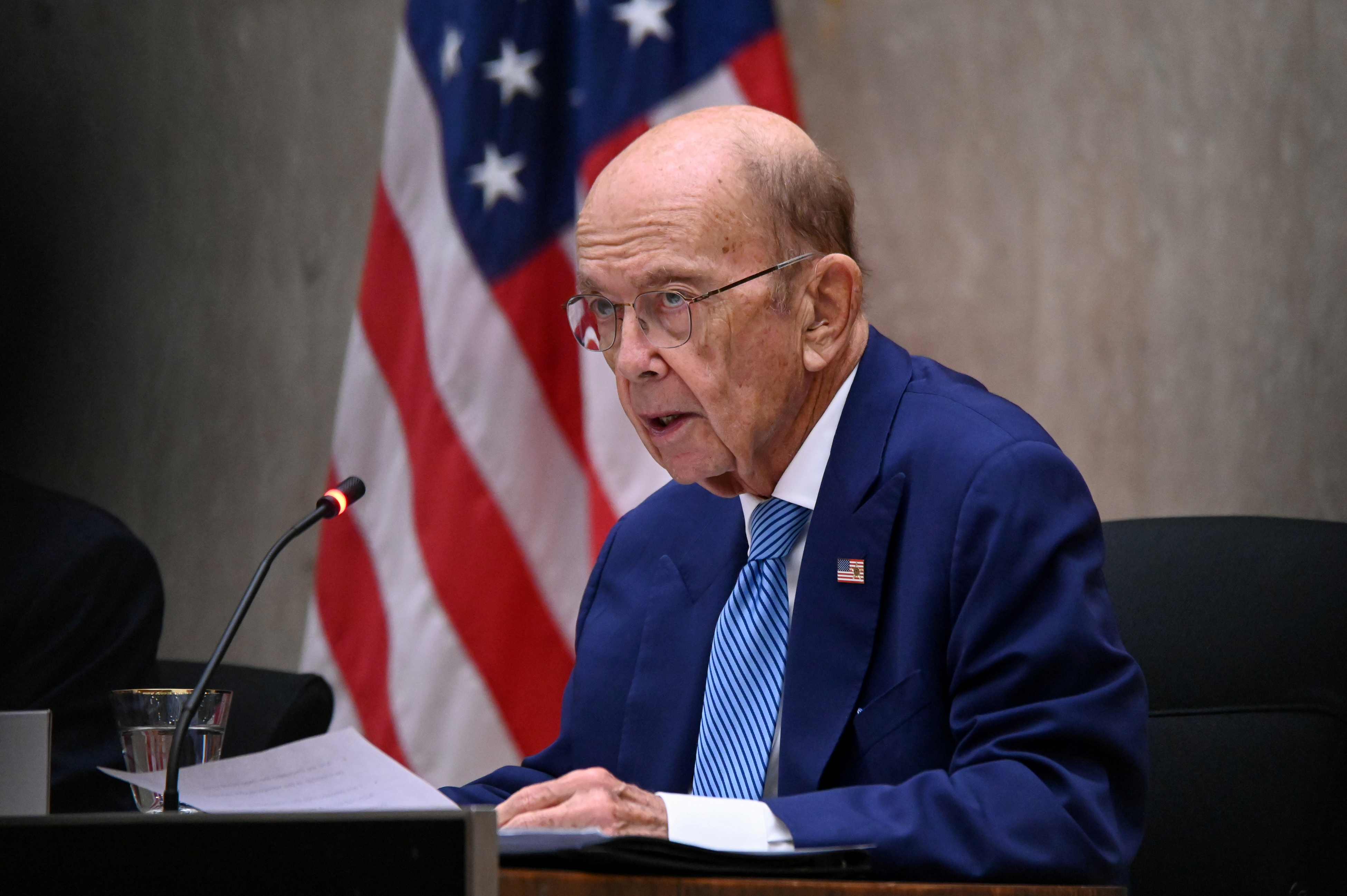 U.S. Commerce Secretary Wilbur Ross speaks during the third annual U.S.-Qatar Strategic Dialogue at the State Department in Washington, U.S., September 14, 2020. REUTERS/Erin Scott/Pool/File Photo