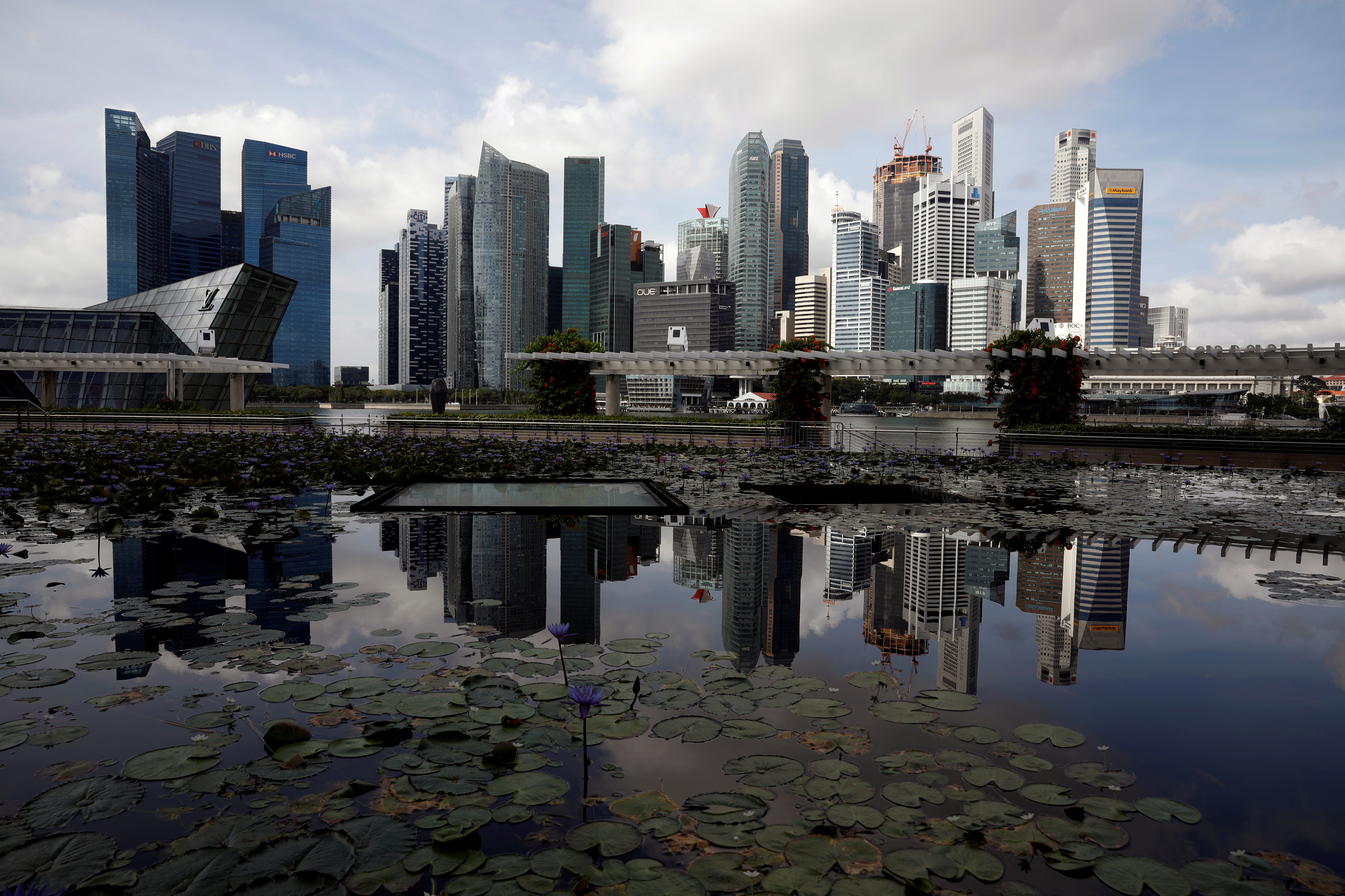 A view of the city skyline in Singapore January 25, 2021. REUTERS/Edgar Su