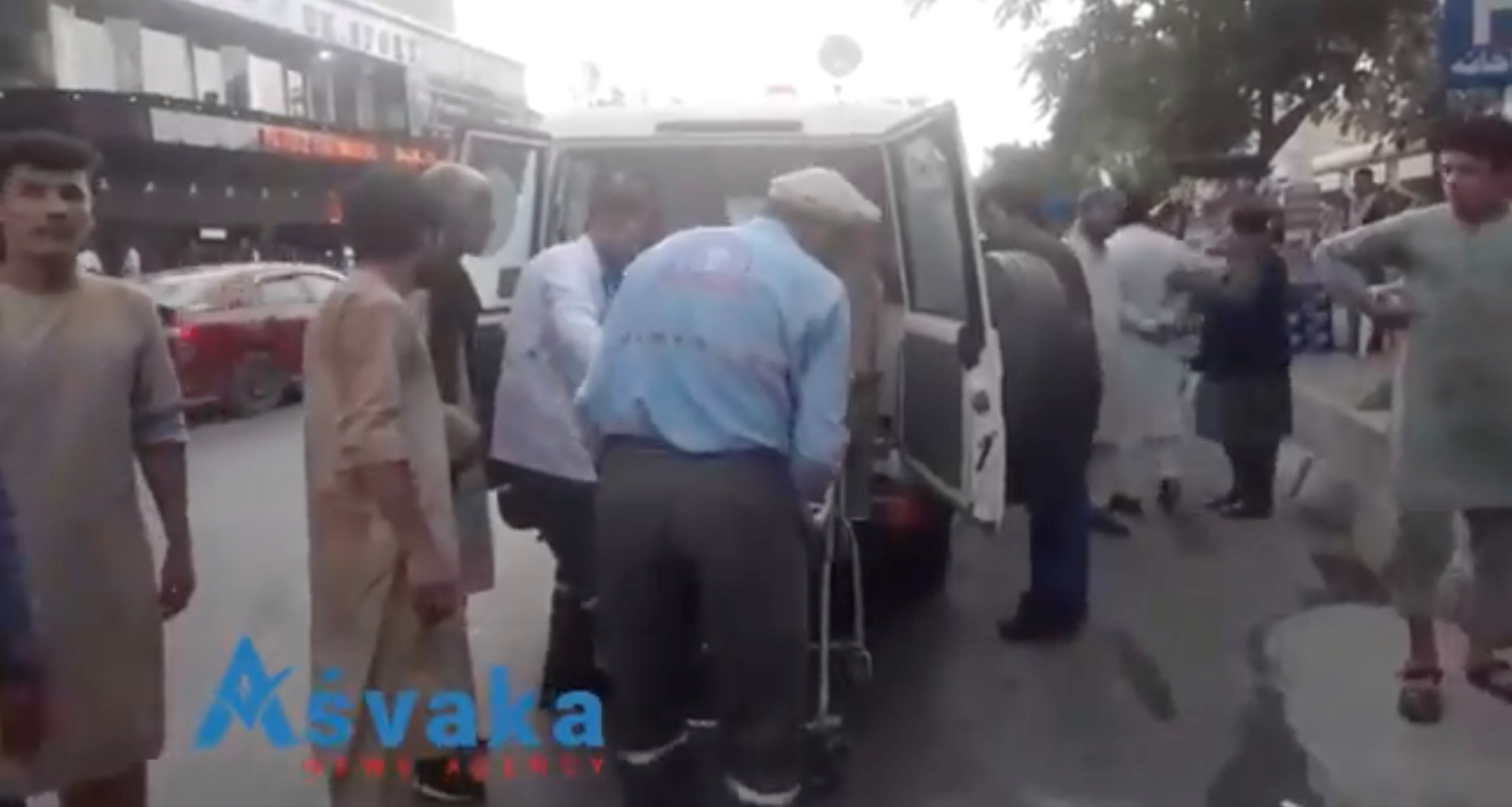 Injured people arrive at a hospital in Kabul, Afghanistan August 26, 2021. ASVAKA NEWS/via REUTERS