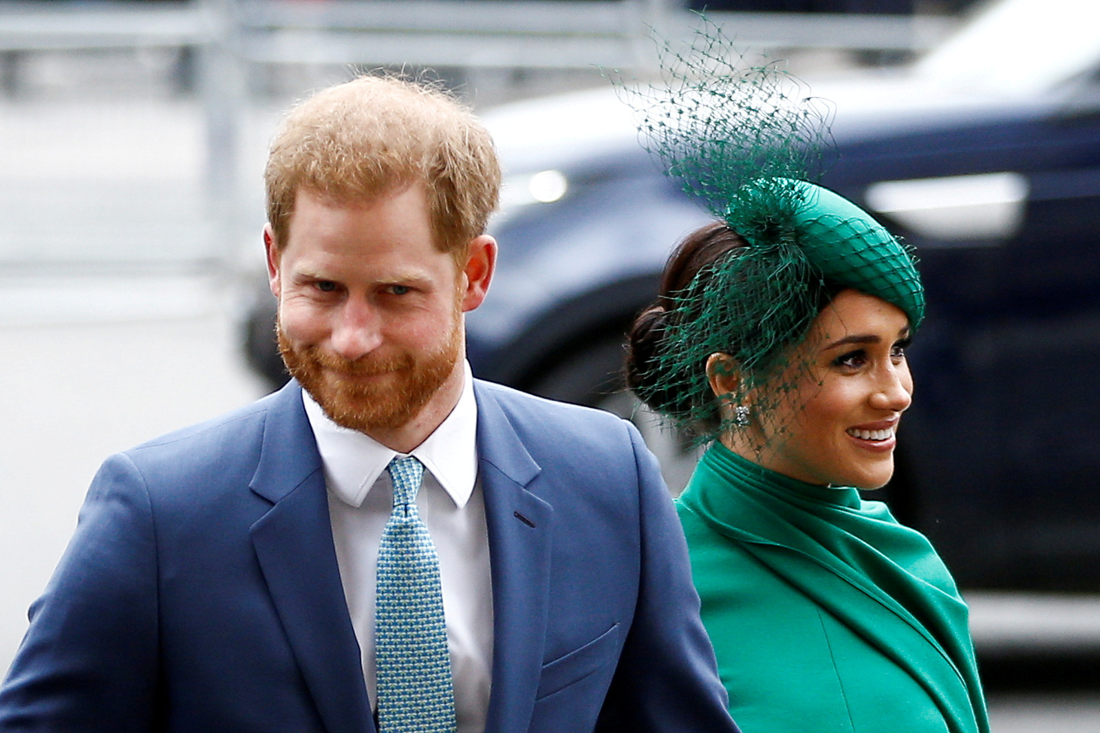 Britain's Prince Harry and Meghan, Duchess of Sussex, arrive for the annual Commonwealth Service at Westminster Abbey in London, Britain March 9, 2020. REUTERS/Henry Nicholls/File Photo