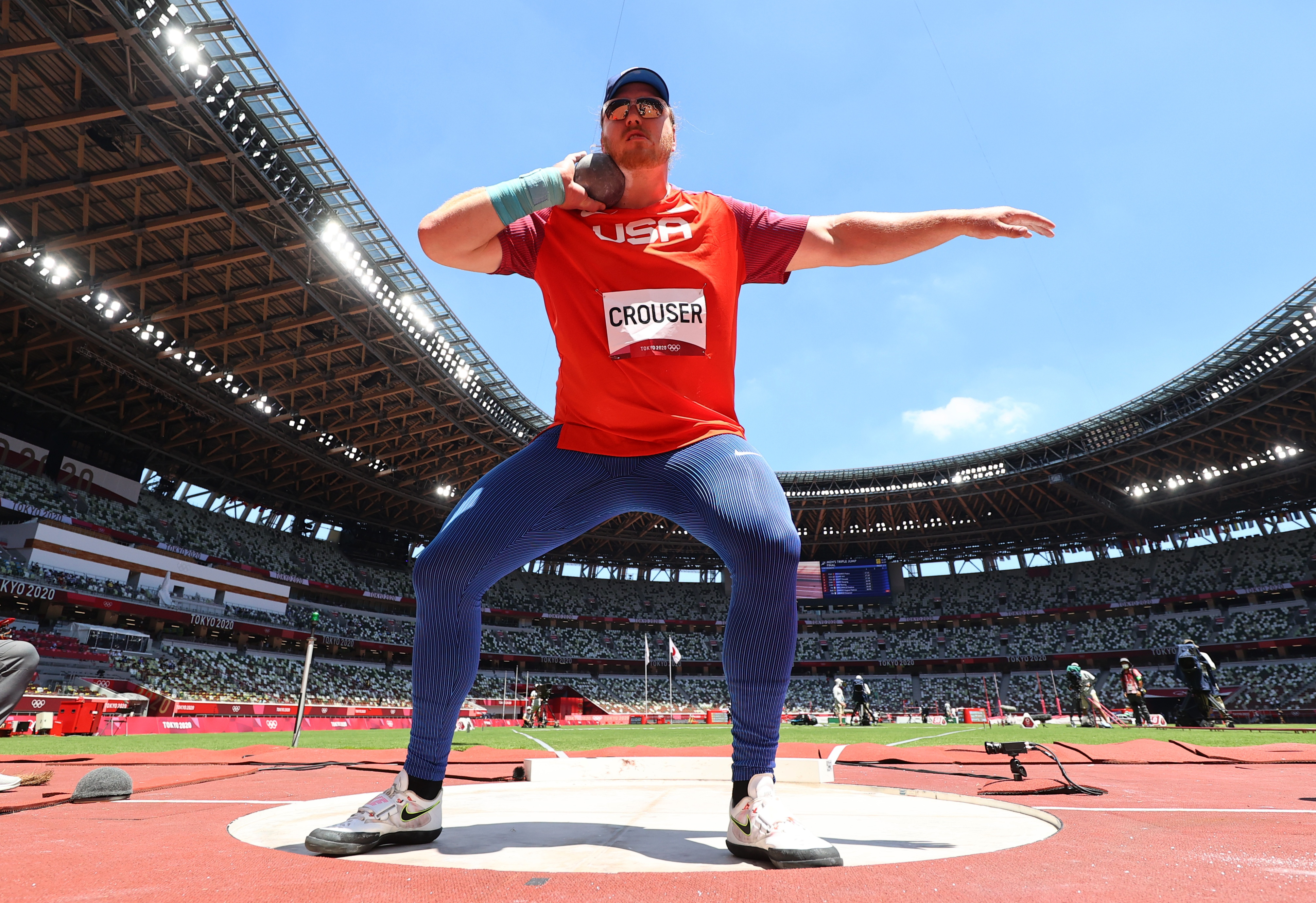 Tokyo 2020 Olympics - Athletics - Men's Shot Put - Final - Olympic Stadium, Tokyo, Japan - August 5, 2021. Ryan Crouser of the United States in action REUTERS/Kai Pfaffenbach