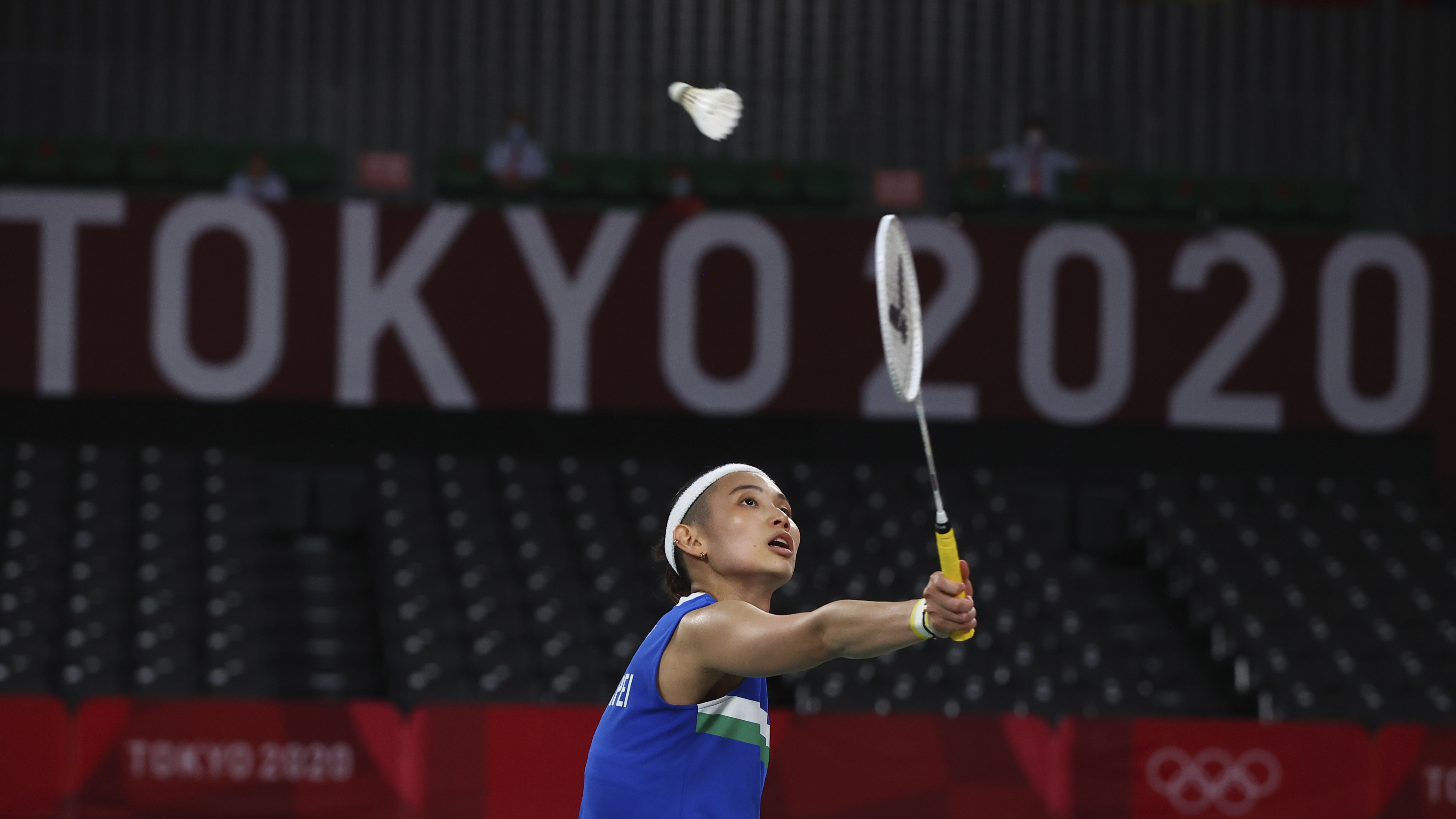 Tokyo 2020 Olympics - Badminton - Women's Singles - Semifinal - MFS - Musashino Forest Sport Plaza, Tokyo, Japan – July 31, 2021.  Tai Tzu-Ying of Taiwan in action during the match against P.V. Sindhu of India. REUTERS/Leonhard Foeger