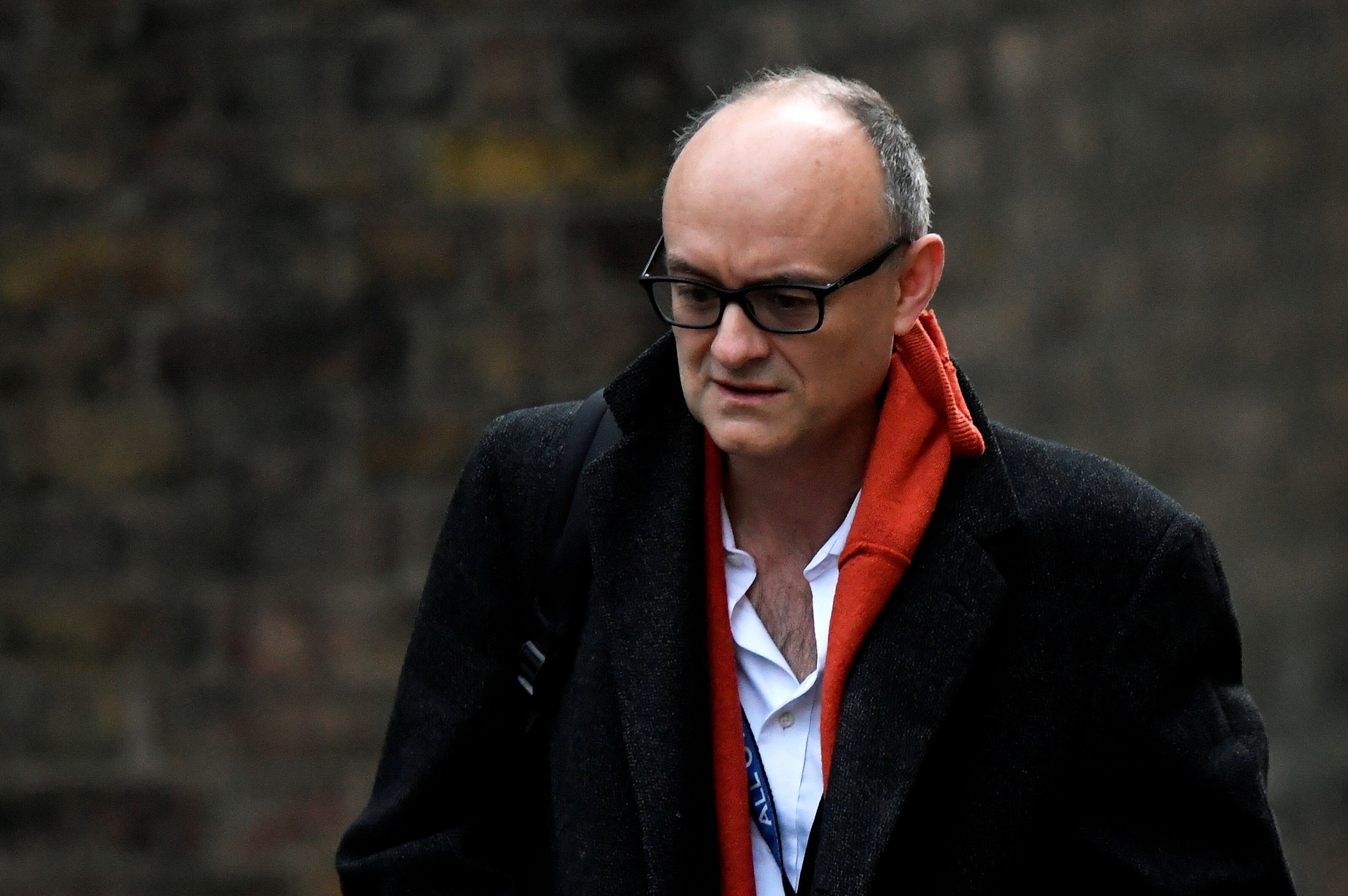 Dominic Cummings, former special adviser for Britain's Prime Minister Boris Johnson, arrives at Downing Street, in London, Britain, November 13, 2020. REUTERS/Toby Melville