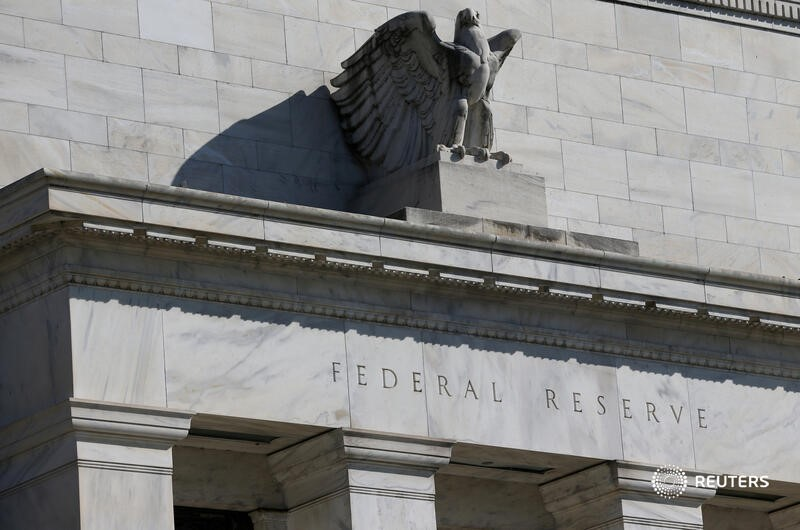 Federal Reserve Board building on Constitution Avenue is pictured in Washington, U.S., March 19, 2019. REUTERS/Leah Millis/File Photo - RC2MLI9NPXDB
