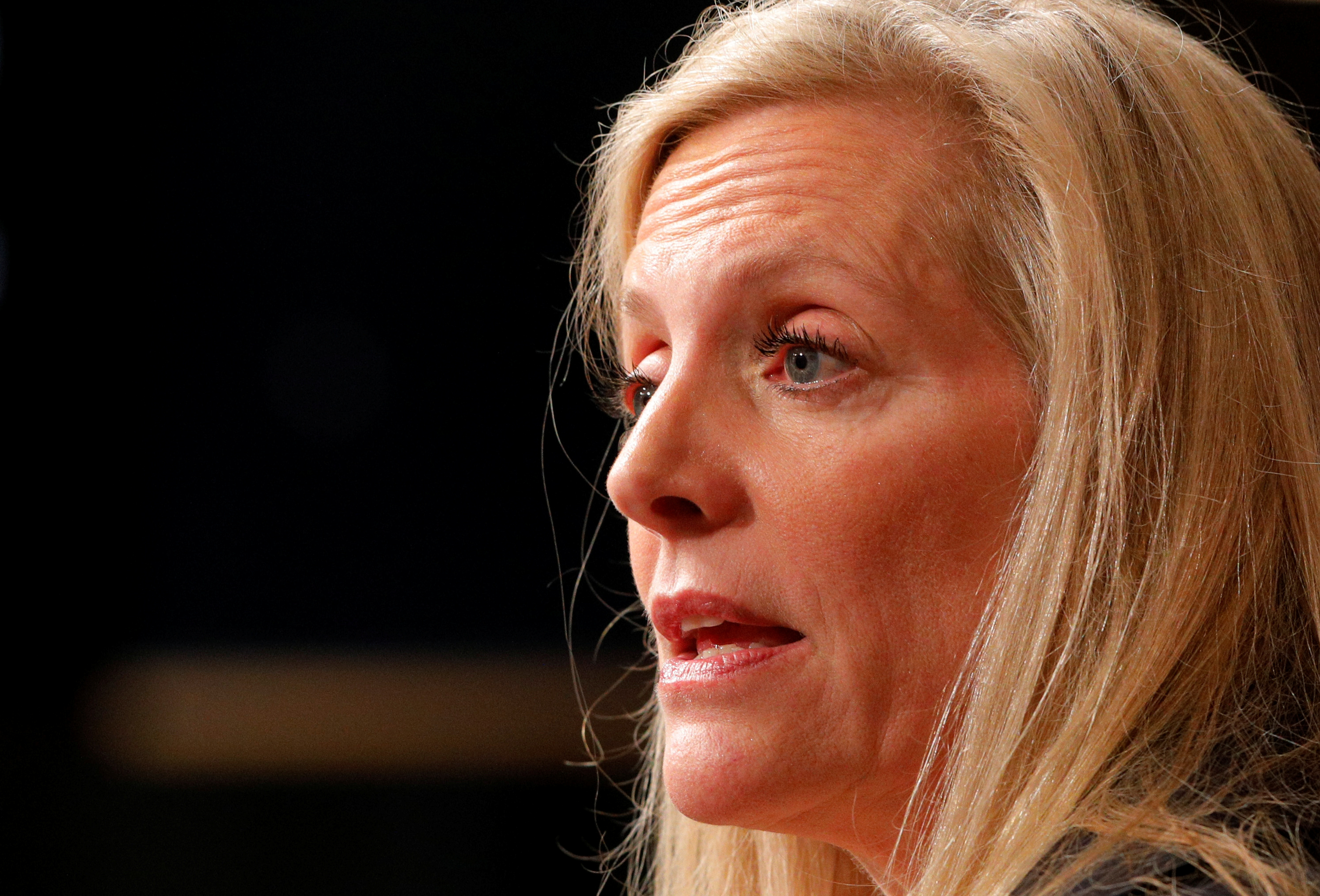 Federal Reserve Board Governor Lael Brainard speaks at the John F. Kennedy School of Government at Harvard University in Cambridge, Massachusetts, U.S., March 1, 2017. REUTERS/Brian Snyder