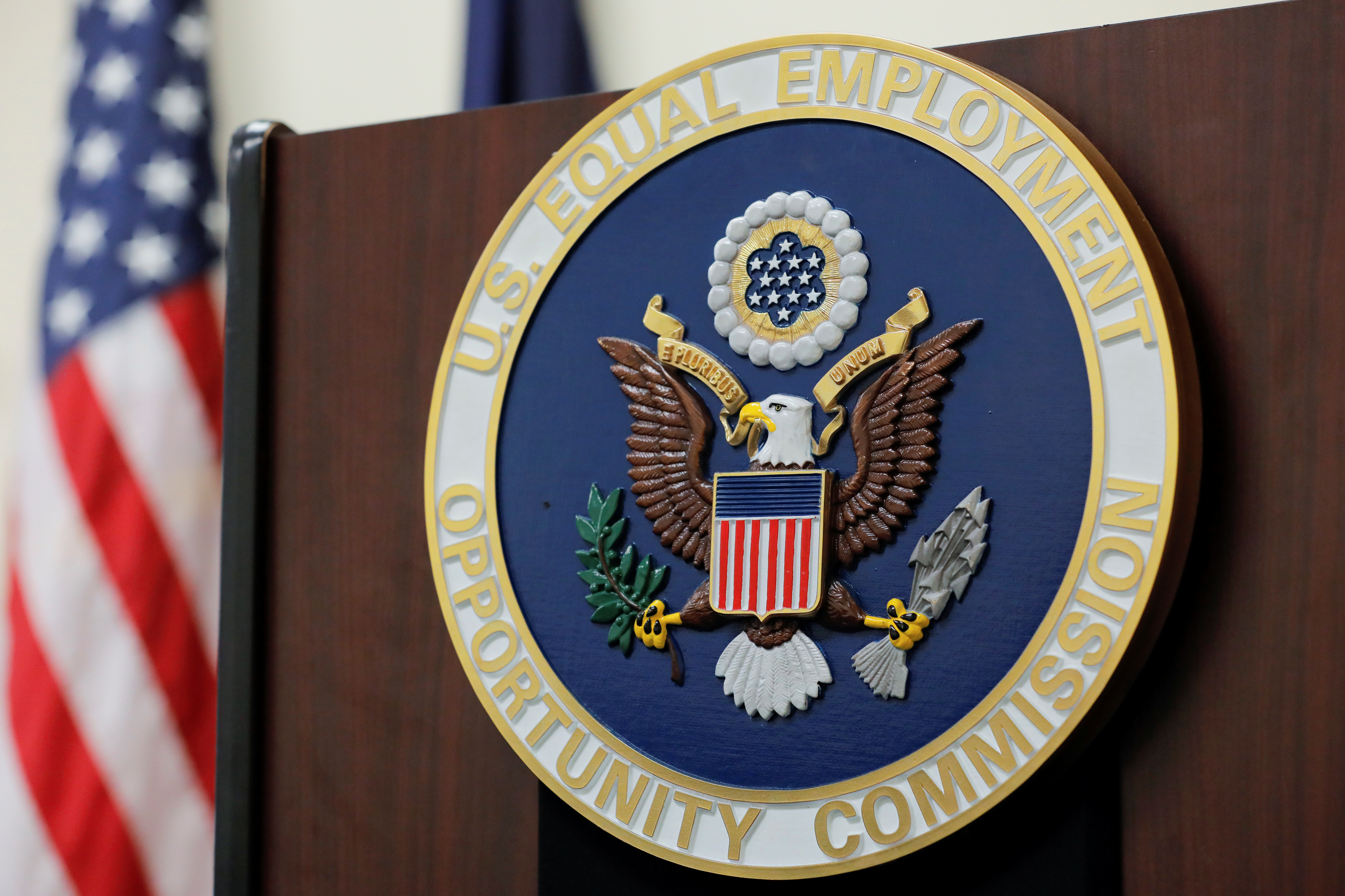 The seal of the U.S. Equal Employment Opportunity Commission (EEOC). REUTERS/Andrew Kelly