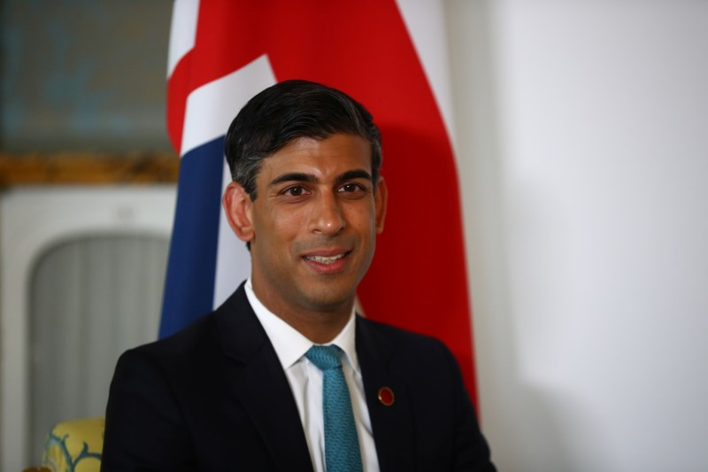 Britain's Chancellor of the Exchequer Rishi Sunak meets with U.S. Treasury Secretary Janet Yellen (not pictured), in London, Britain June 3, 2021. REUTERS/Hannah McKay/Pool