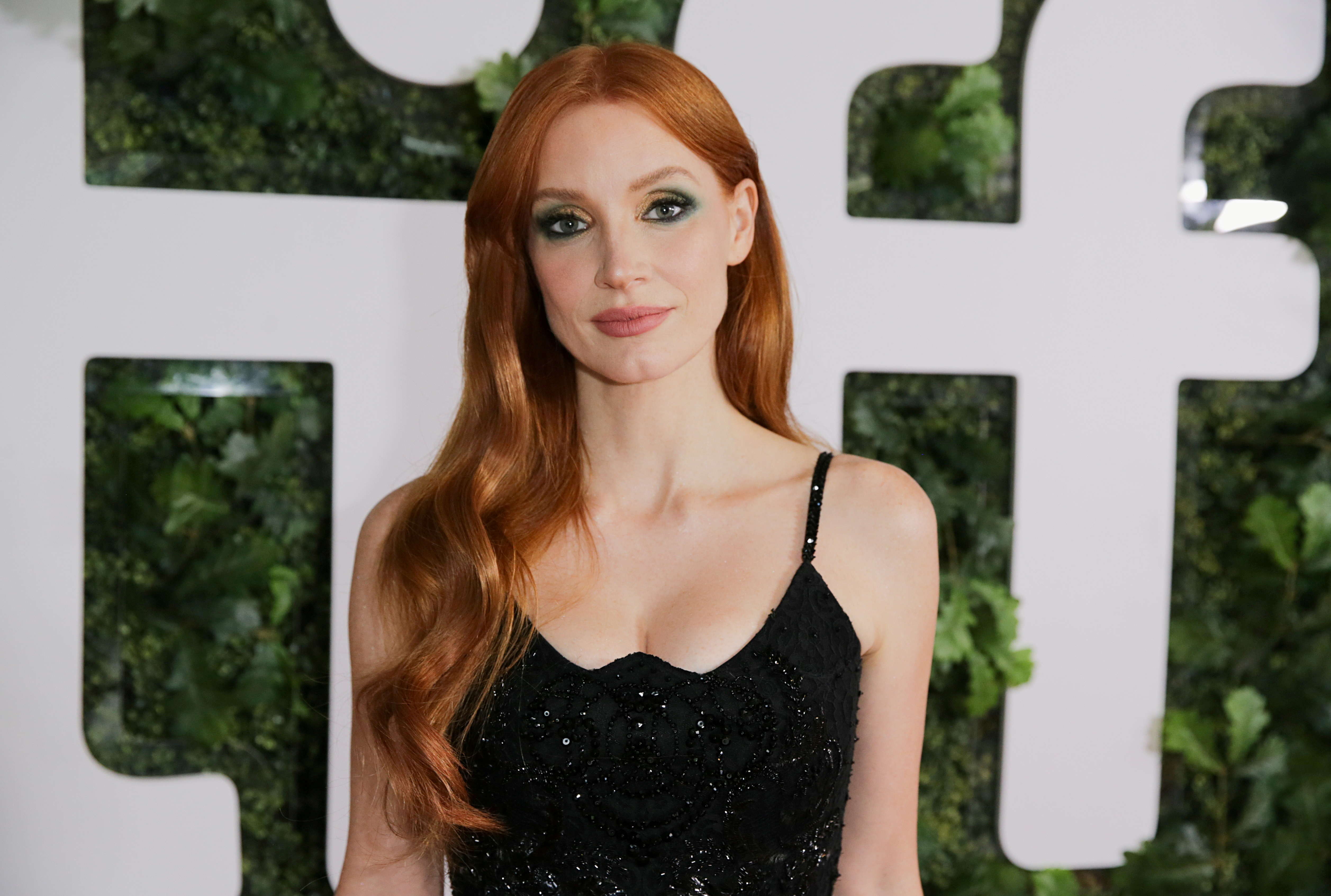 Cast member Jessica Chastain poses as she arrives for the premiere of