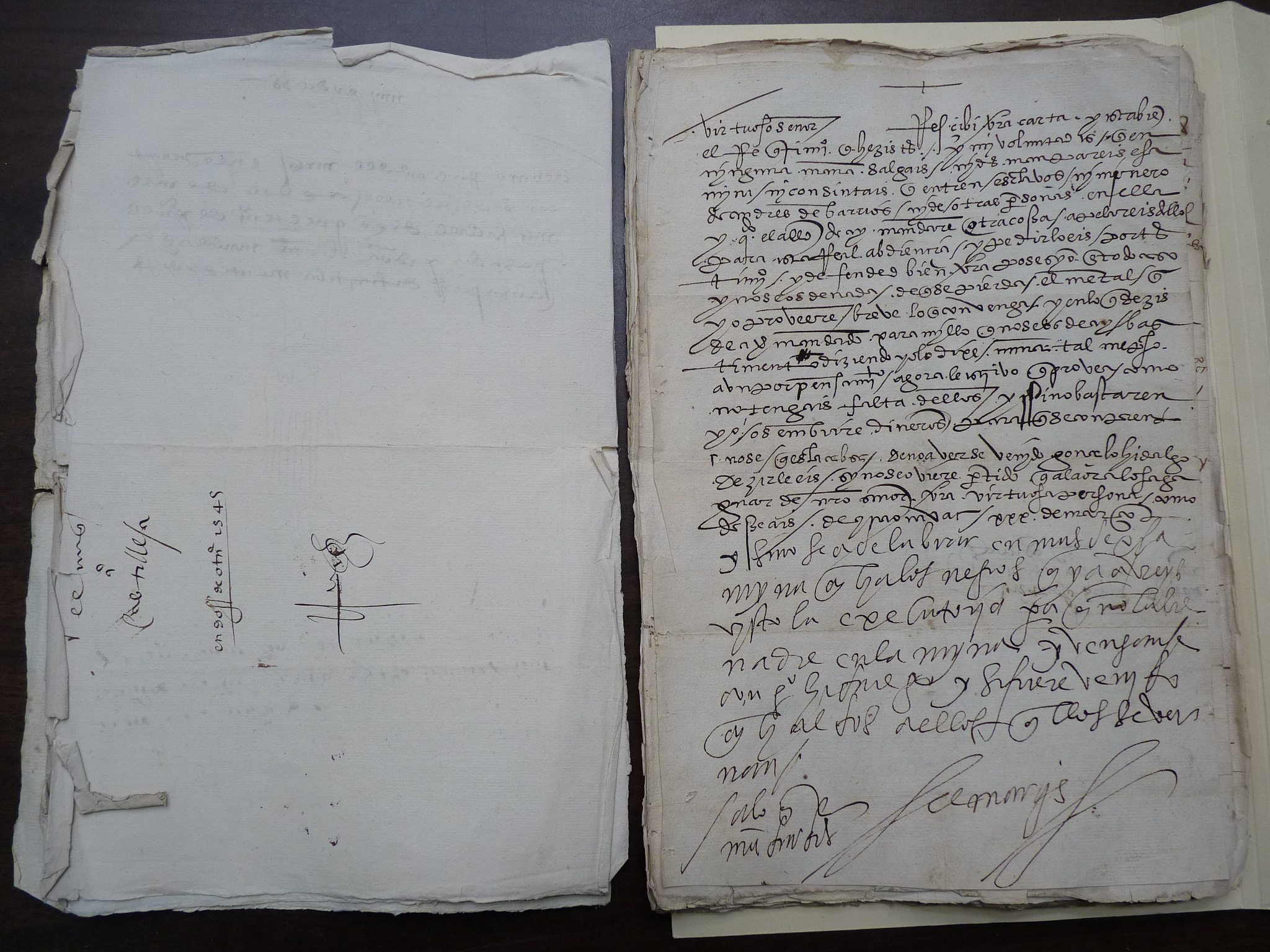 A Hernan Cortes letter, signed