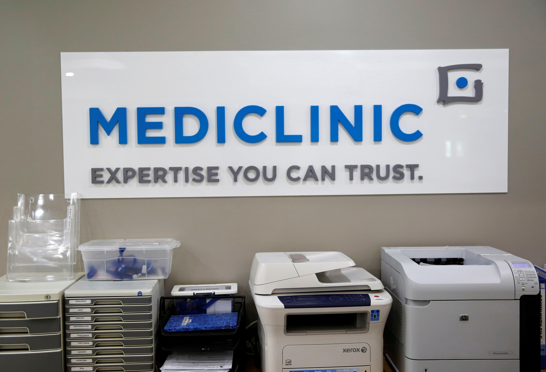 The Mediclinic logo is seen in Dubai, UAE February 28, 2017.    REUTERS/Ahmed Jadallah