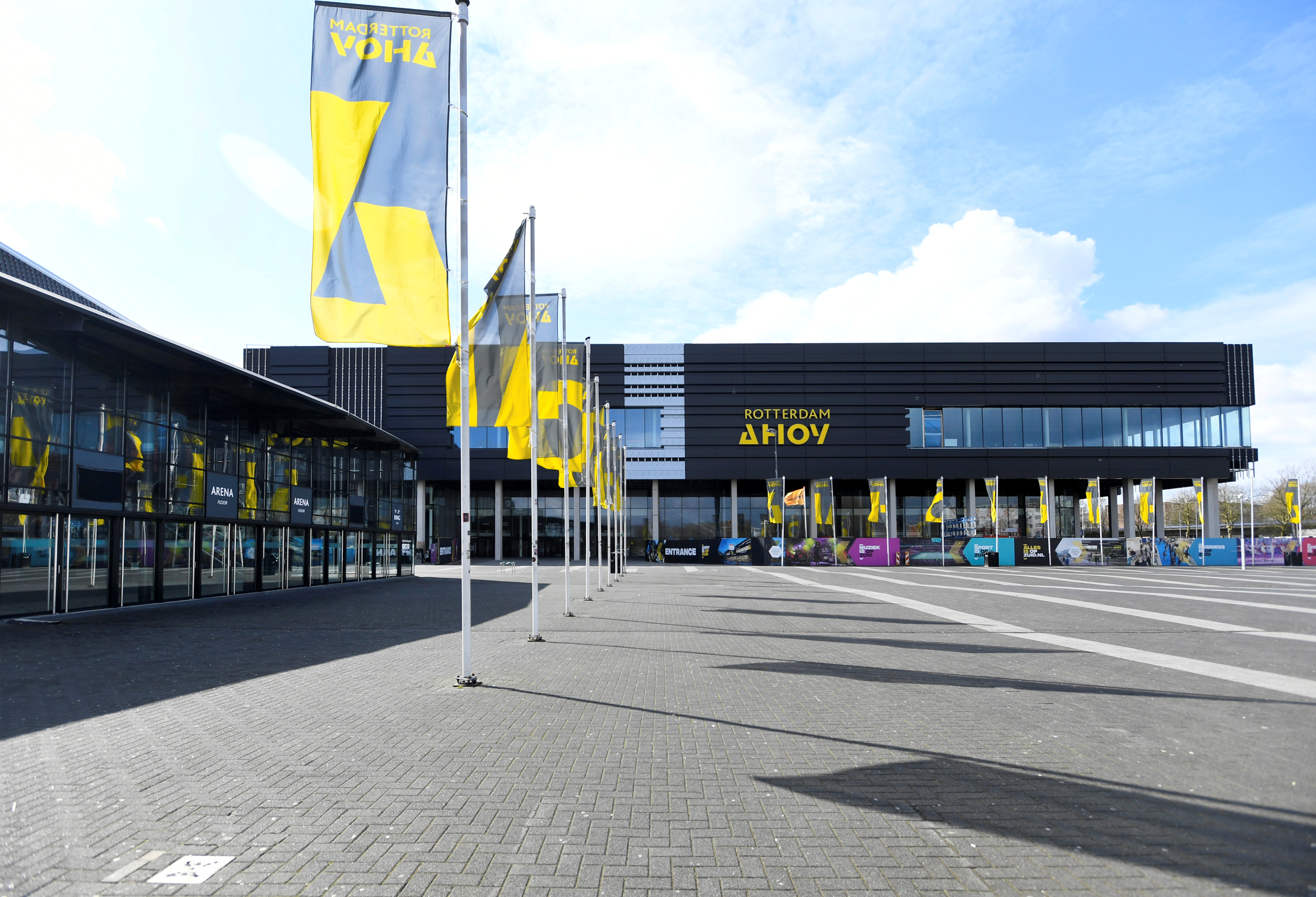 General view of the Ahoy arena in Rotterdam, Netherlands that will host the Eurovision Song Contest  in May. REUTERS/Piroschka Van De Wouw