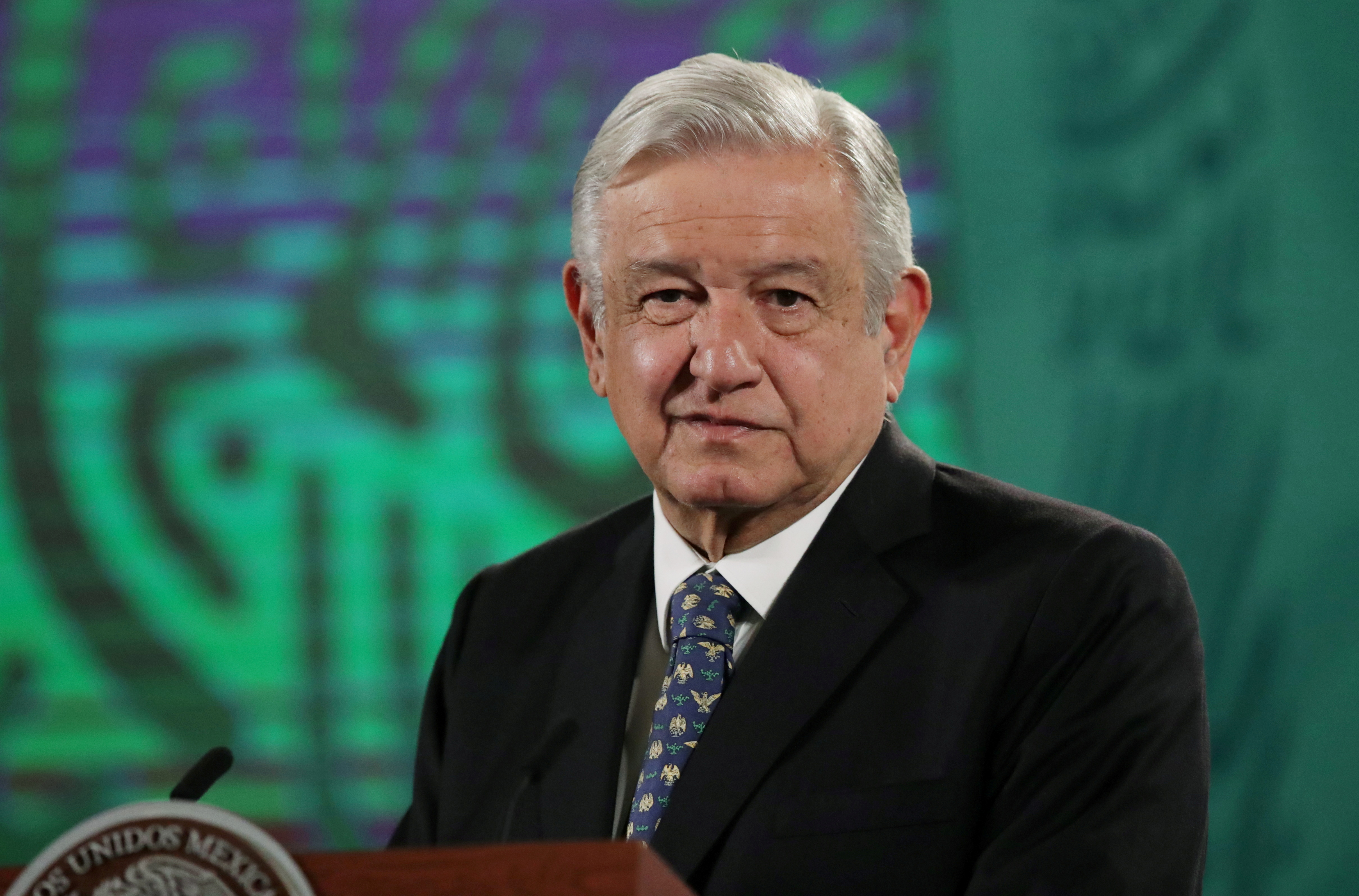 Mexico's President Andres Manuel Lopez Obrador holds a news conference at the National Palace in Mexico City, Mexico, May 5, 2021. REUTERS/Henry Romero/File Photo