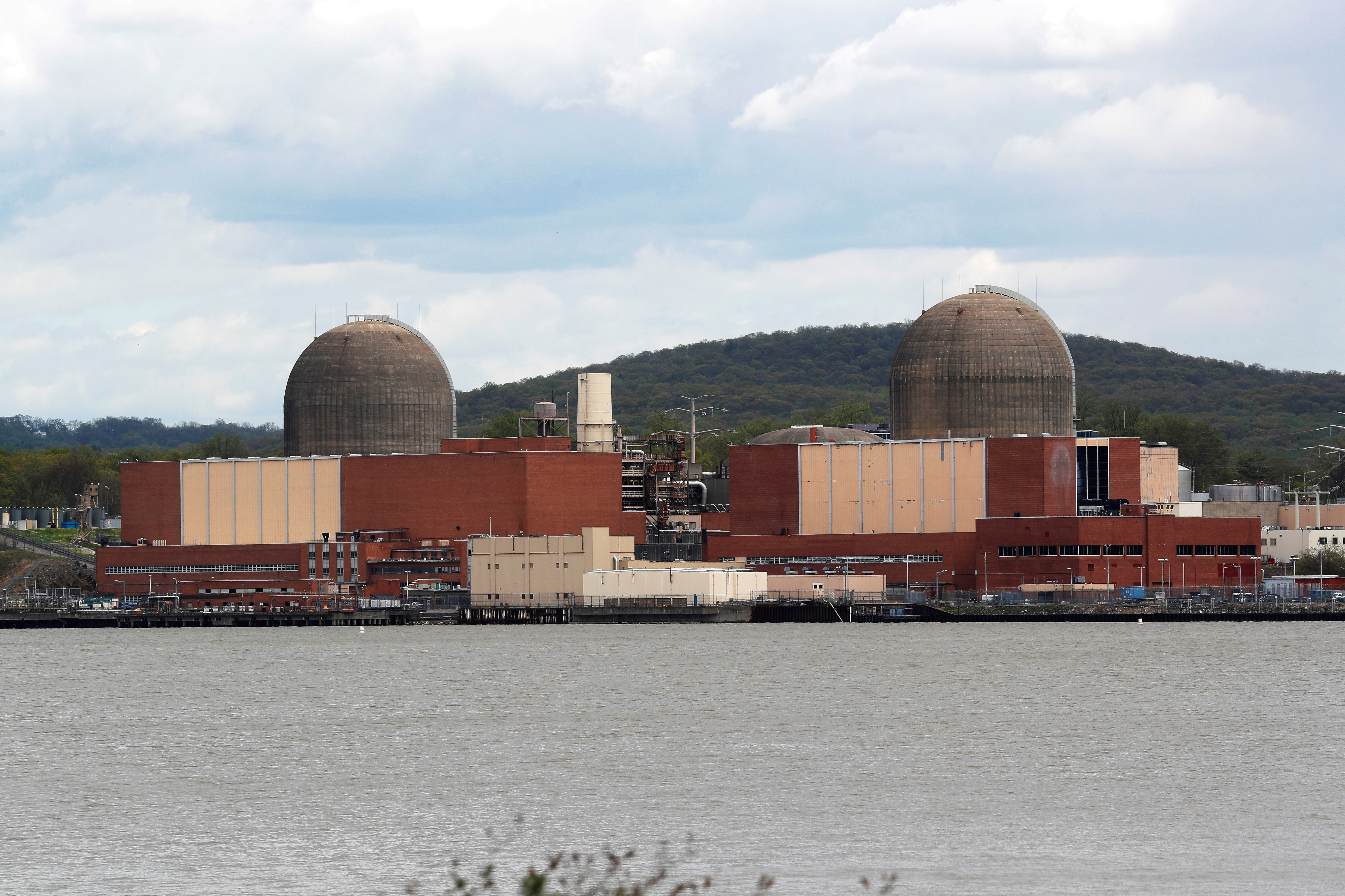 The Indian Point Energy Center nuclear power plant, which New York Governor Andrew Cuomo announced will shutdown as planned, is pictured along the eastern shore of the Hudson River in Buchanan, New York, U.S., April 30, 2021. REUTERS/Mike Segar