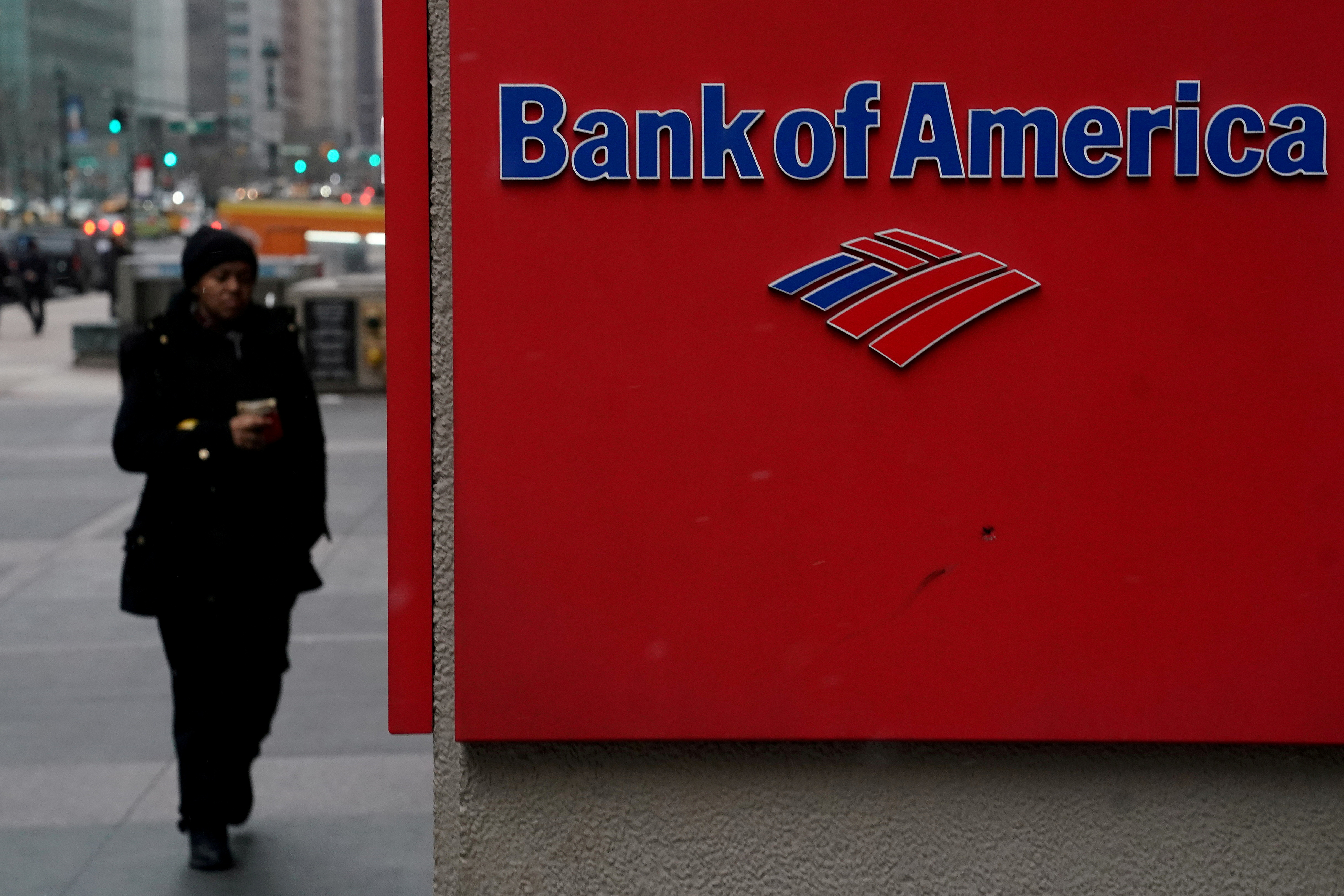 A Bank of America logo is pictured in the Manhattan borough of New York City, New York, U.S., January 30, 2019. REUTERS/Carlo Allegri/File Photo