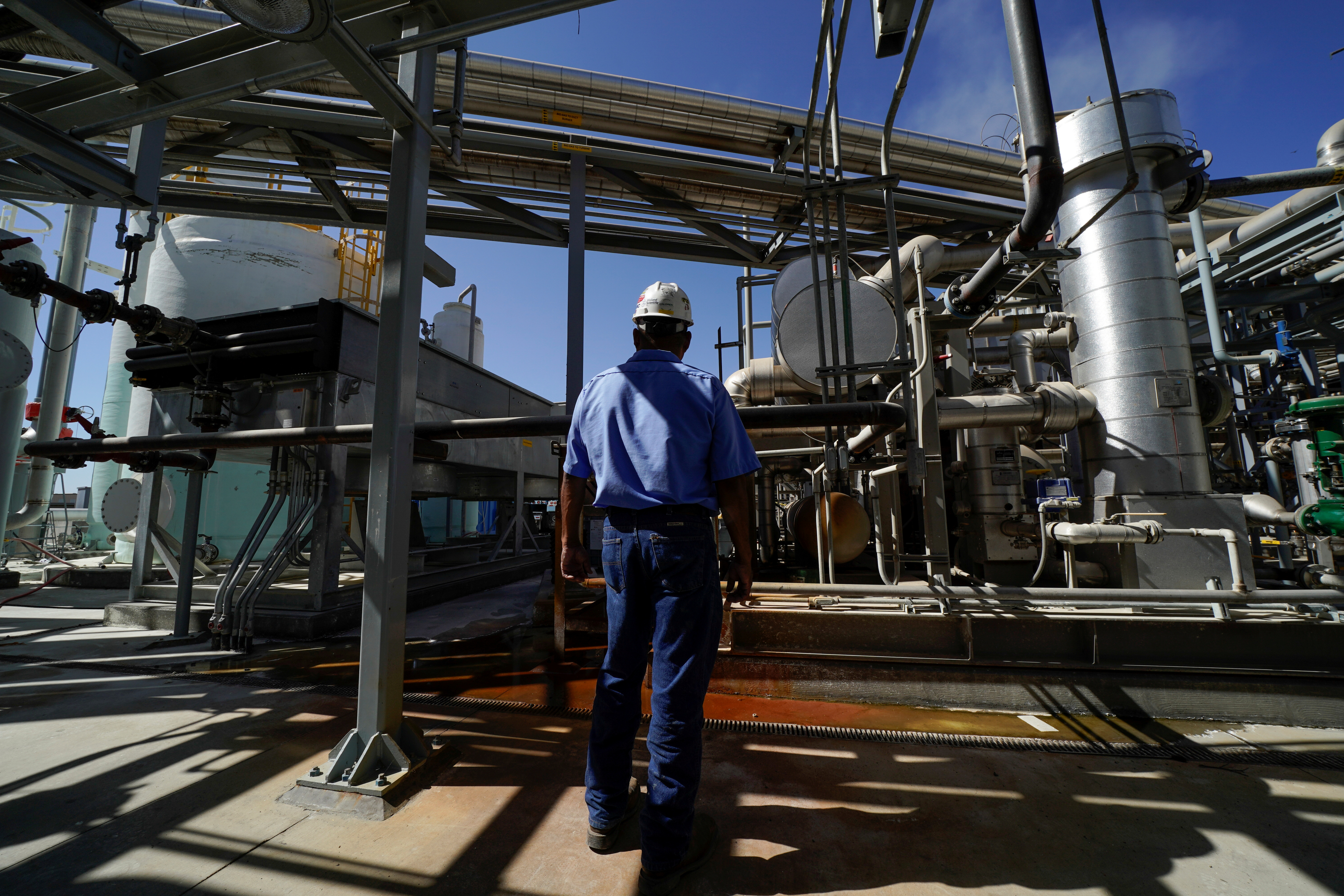 Calgren's renewable fuels facility that cleans dairy methane into natural gas is shown in Pixley, California, October 2, 2019. Picture taken October 2, 2019. REUTERS/Mike Blake