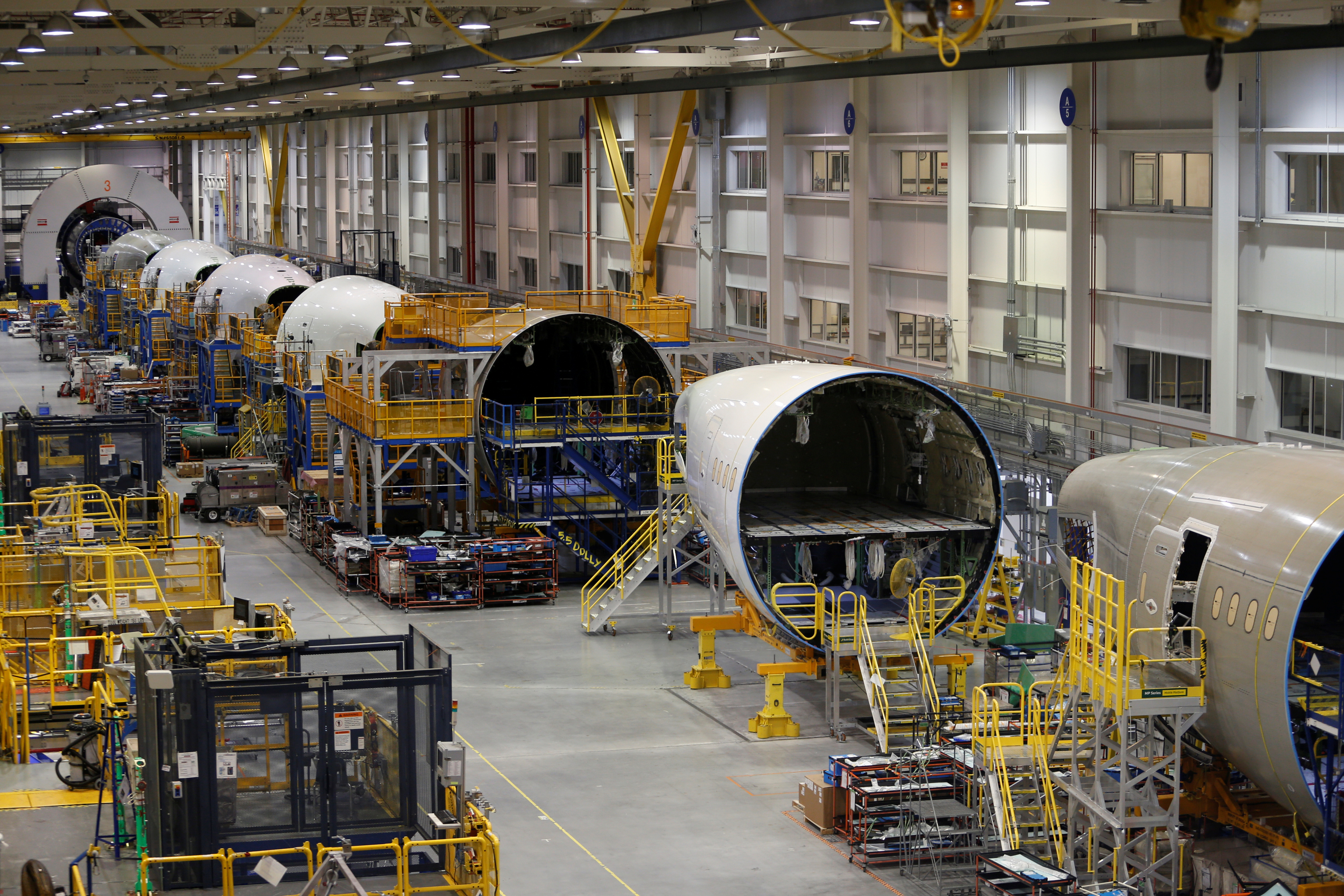 The 787 Aft Body manufacturing area is pictured at Boeing South Carolina in North Charleston, South Carolina, United States March 25, 2018.  REUTERS/Randall Hill