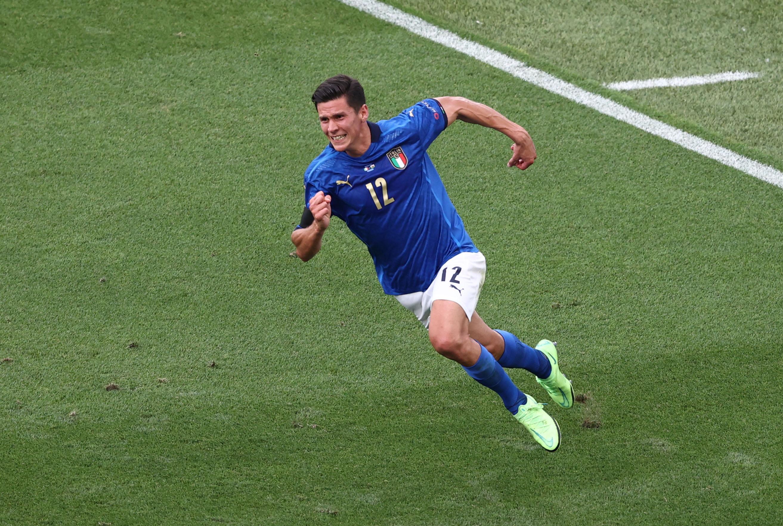 Soccer Football - Euro 2020 - Group A - Italy v Wales - Stadio Olimpico, Rome, Italy - June 20, 2021  Italy's Matteo Pessina celebrates scoring their first goal Pool via REUTERS/Ryan Pierse