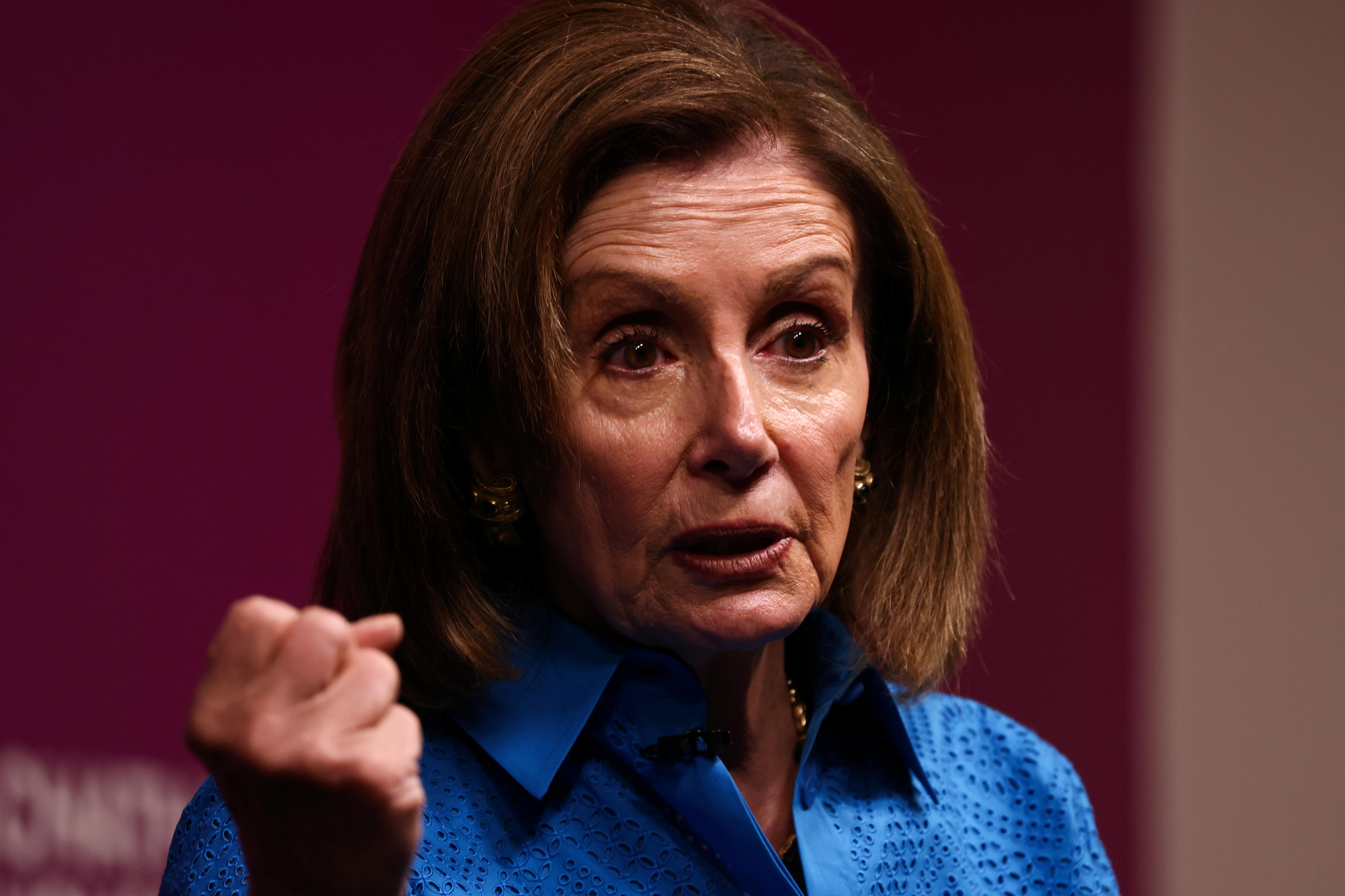 U.S. House Speaker Nancy Pelosi speaks on