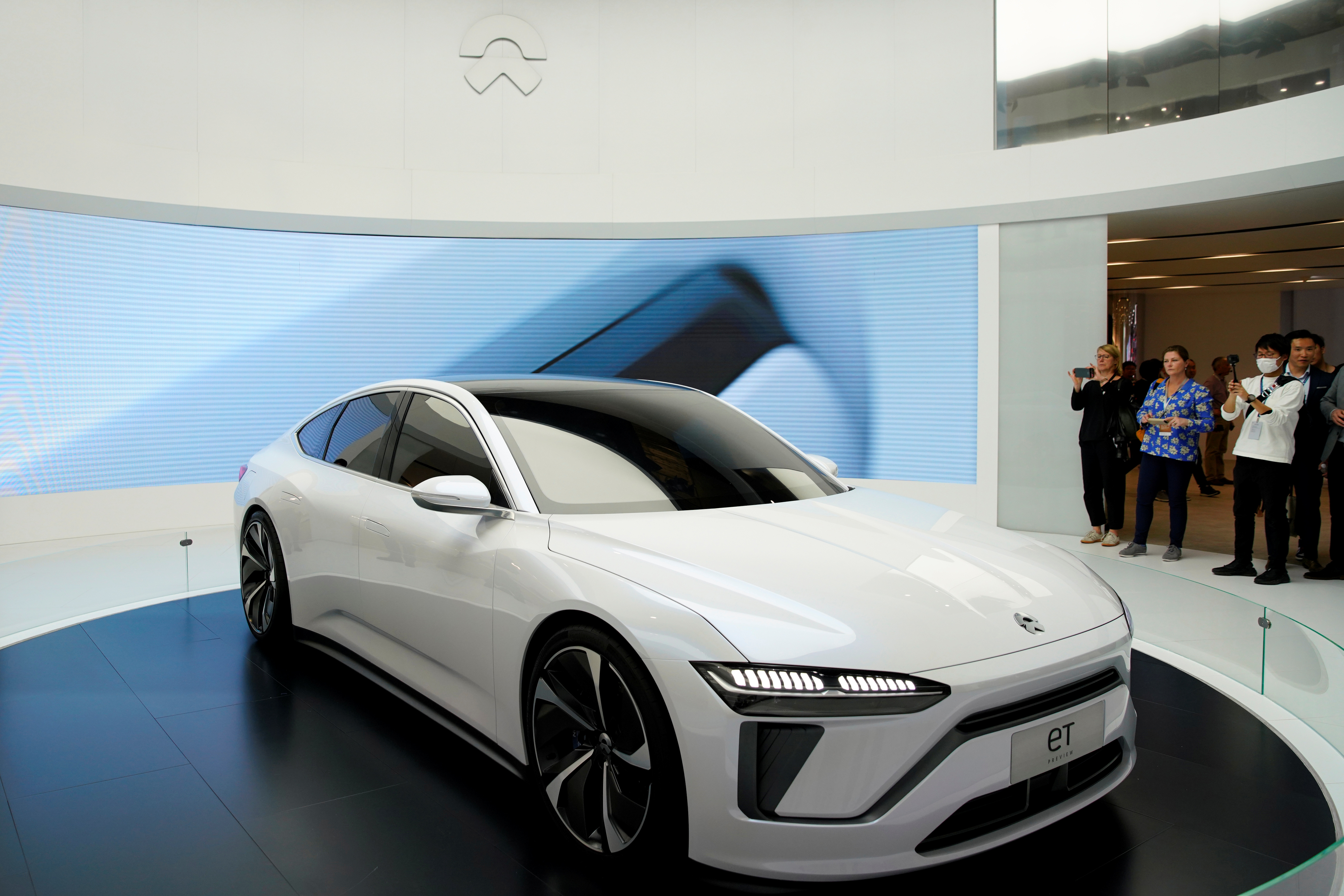 NIO's new electric vehicle (EV) ET7 is unveiled during the media day for Shanghai auto show in Shanghai, China April 16, 2019.
