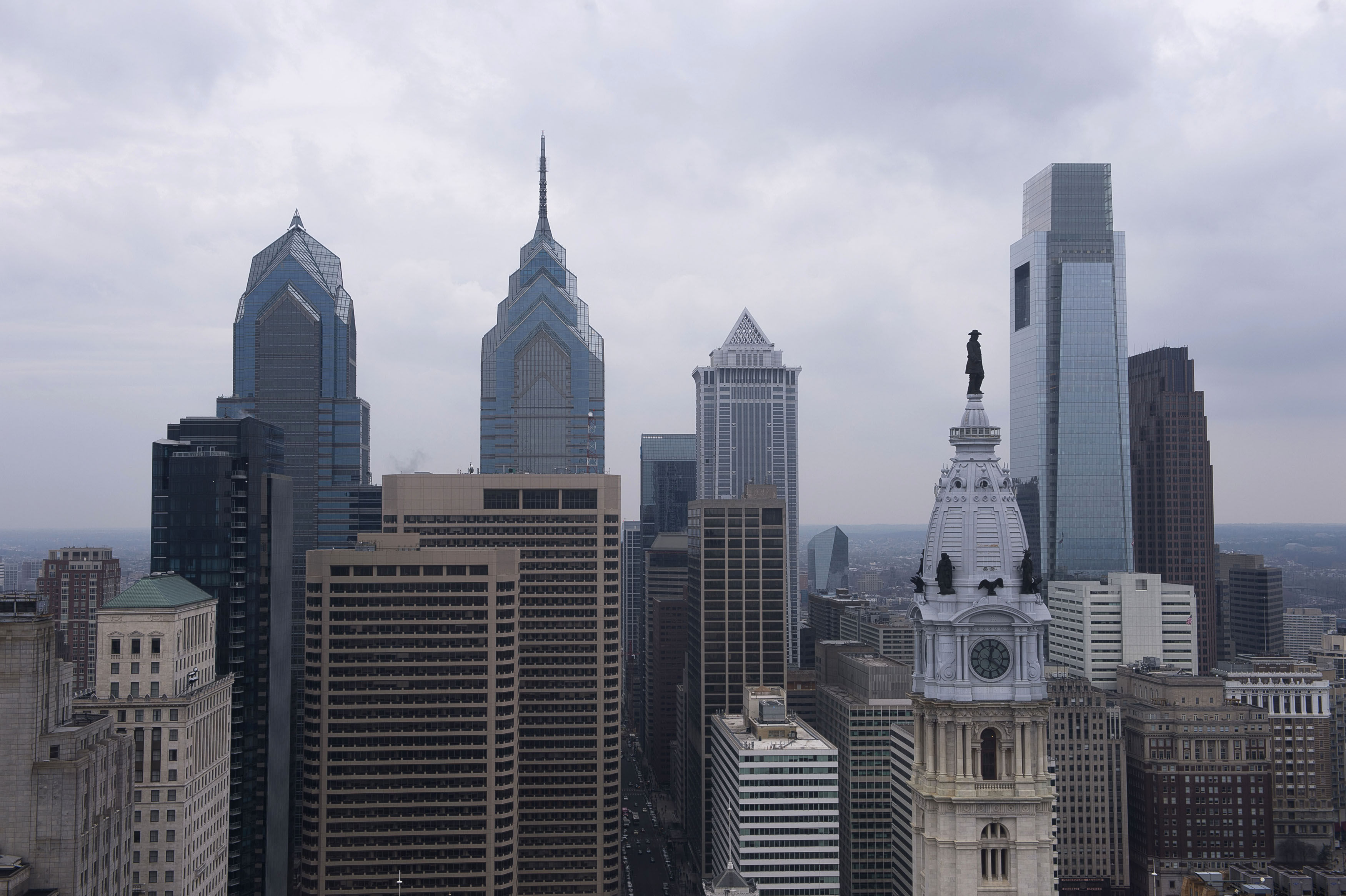 A view of the downtown skyline in Philadelphia, February 12, 2015. REUTERS/Charles Mostoller