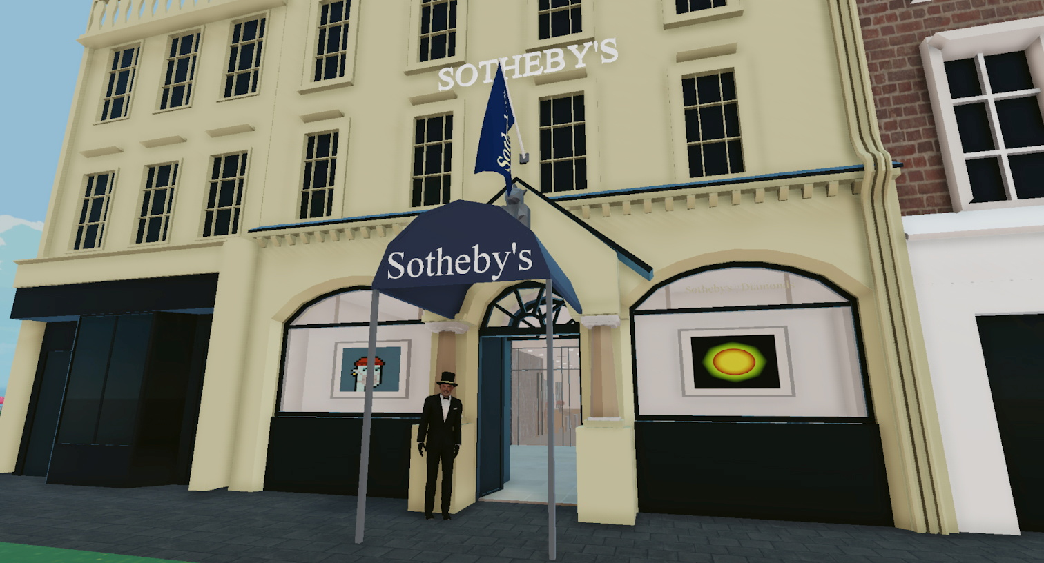 Sotheby's Virtual Gallery in the Voltaire Art District of Decentraland is seen in this handout picture, June 10, 2021. Decentraland Foundation/Handout via REUTERS
