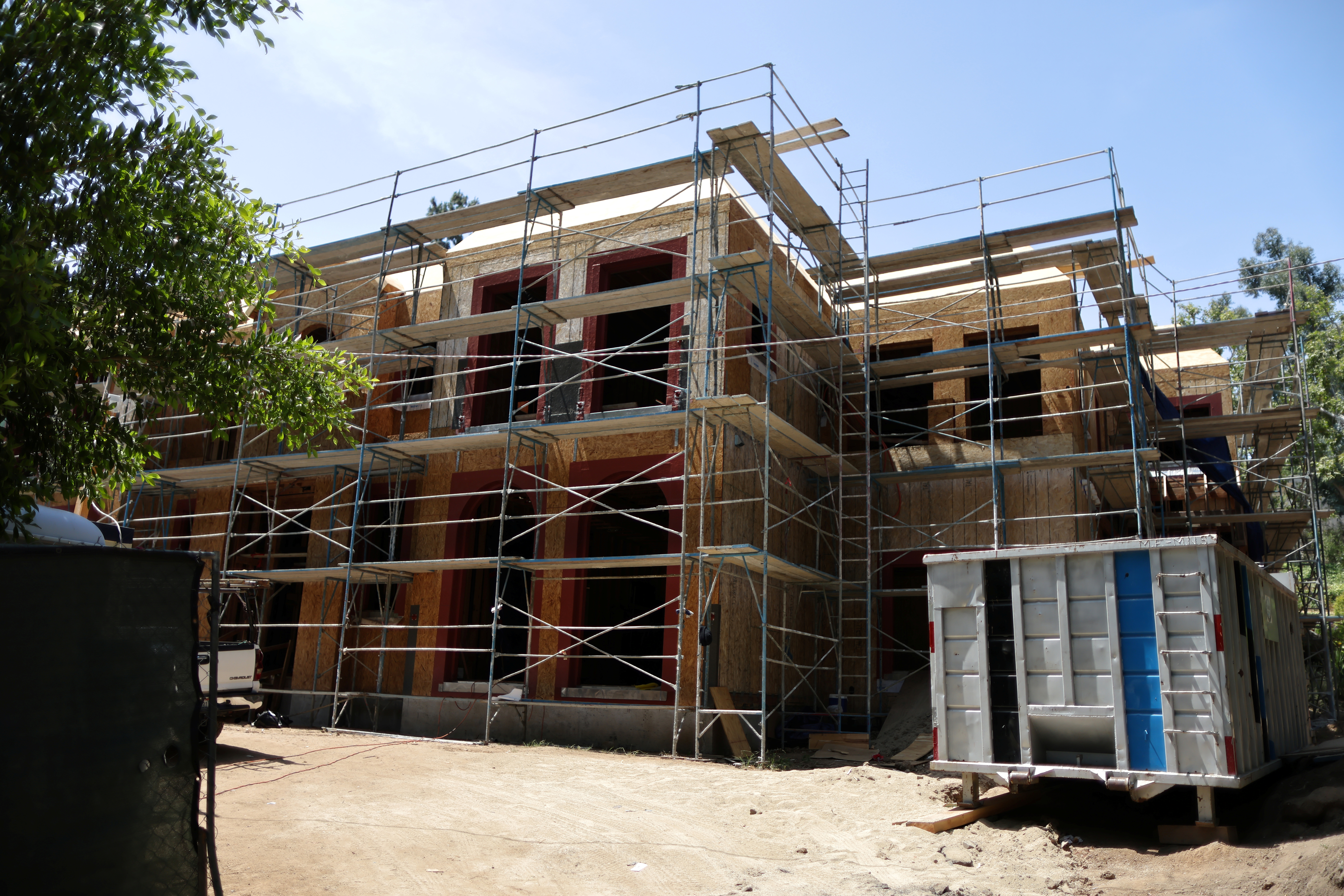 A new housing construction is seen as real estate prices rise in Beverly Hills, California, U.S., June 2, 2021. REUTERS/Lucy Nicholson