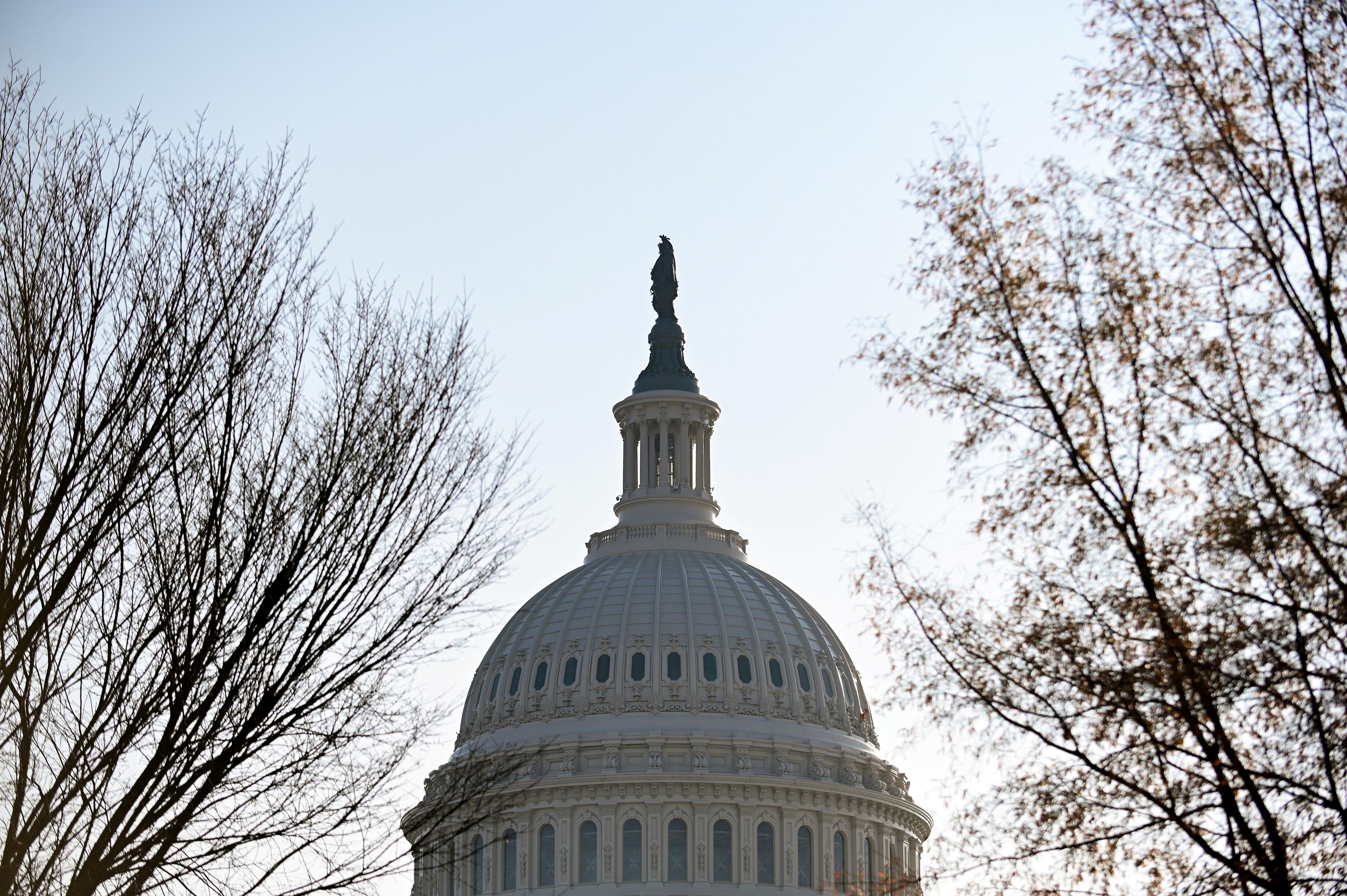 The U.S. Capitol dome is seen in Washington, U.S., December 10, 2020. REUTERS/Erin Scott/File Photo