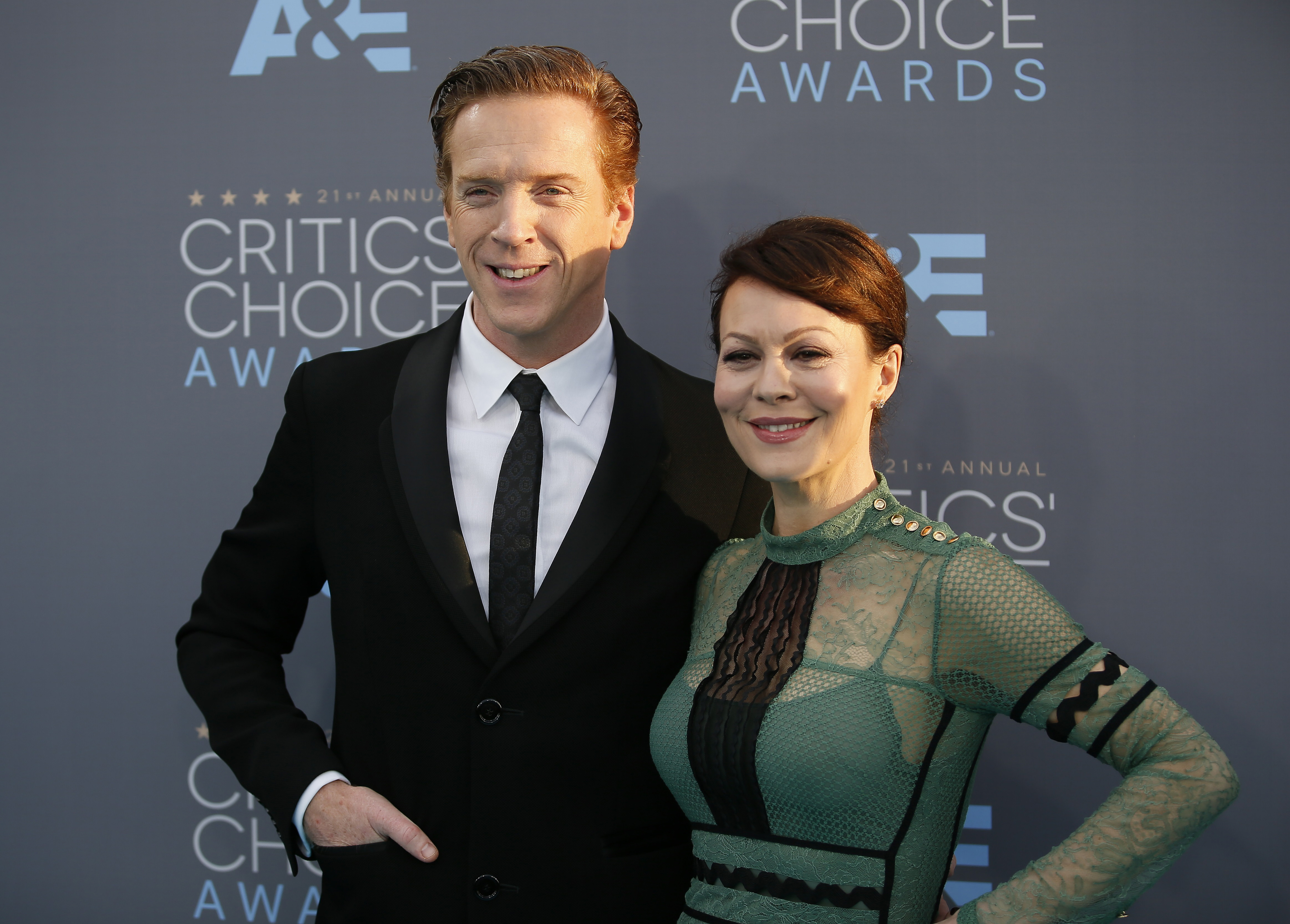 Actor Damian Lewis and his wife actress Helen McCrory arrive at the 21st Annual Critics' Choice Awards in Santa Monica, California January 17, 2016.  REUTERS/Danny Moloshok