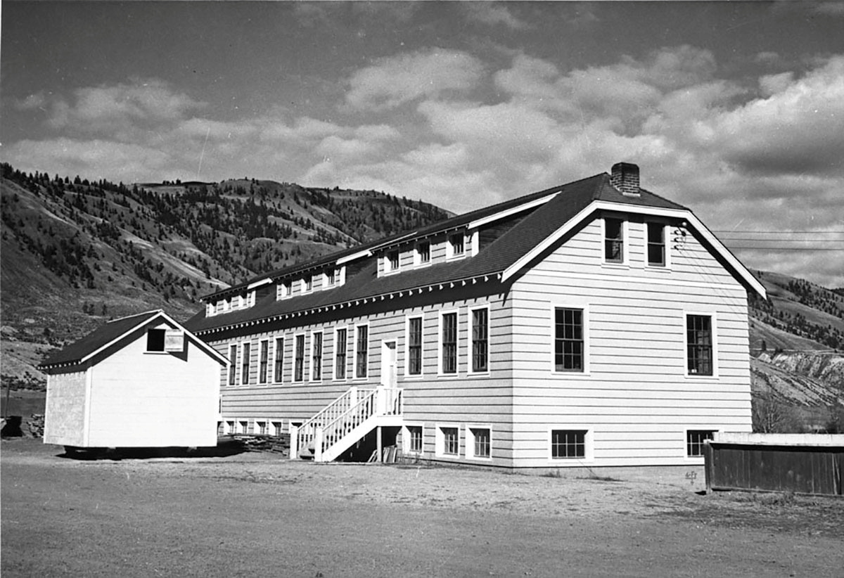 A new classroom building at the Kamloops Indian Residential School is seen in Kamloops, British Columbia, Canada circa 1950.   Library and Archives Canada/Handout via REUTERS
