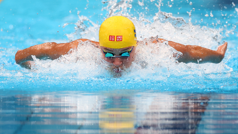Tokyo 2020 Olympics - Swimming - Women's 100m Butterfly - Semifinal 2 - Tokyo Aquatics Centre - Tokyo, Japan - July 25, 2021. Sarah Sjoestroem of Sweden in action REUTERS/Kai Pfaffenbach